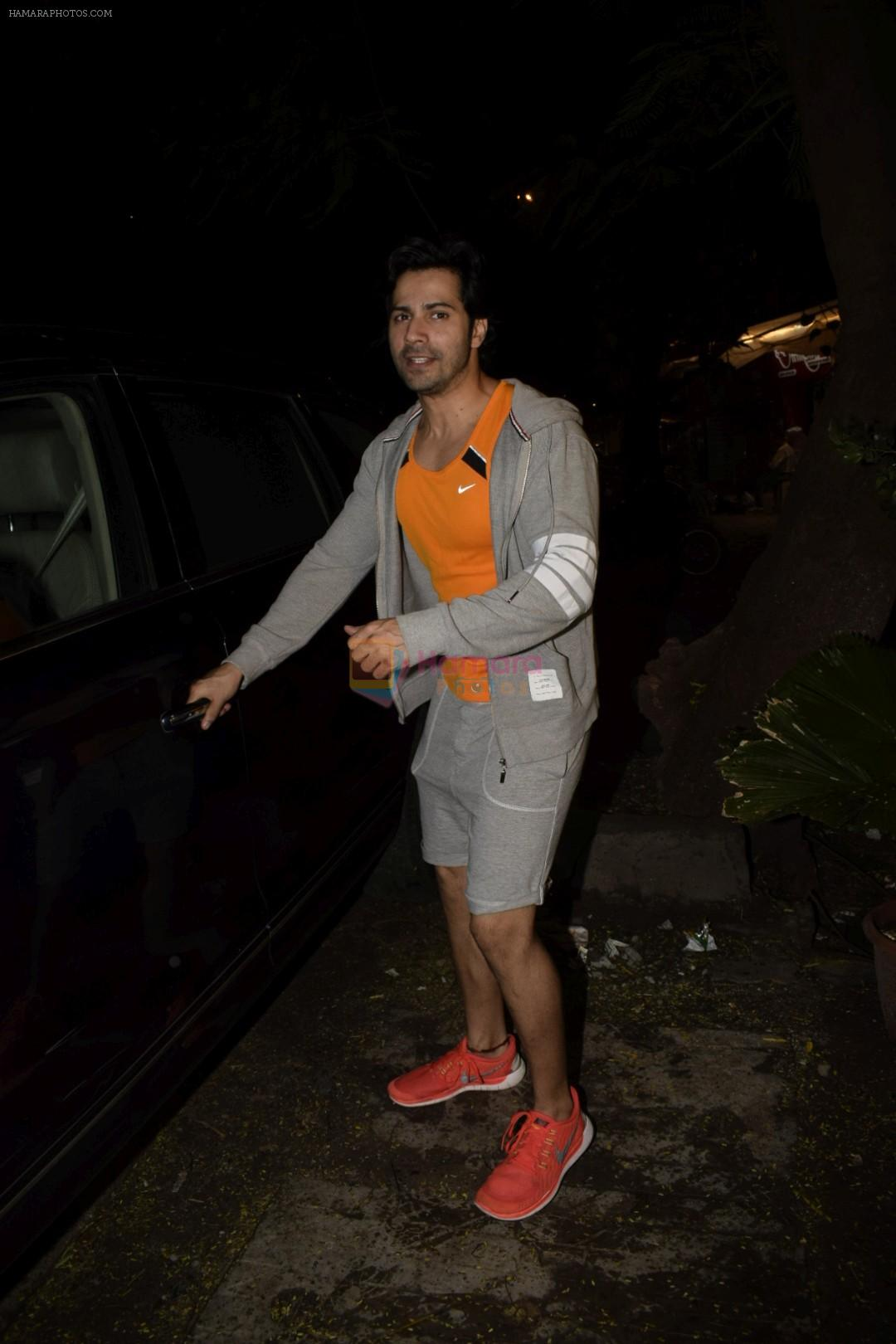 Varun Dhawan spotted at gym in juhu on 12th July 2018