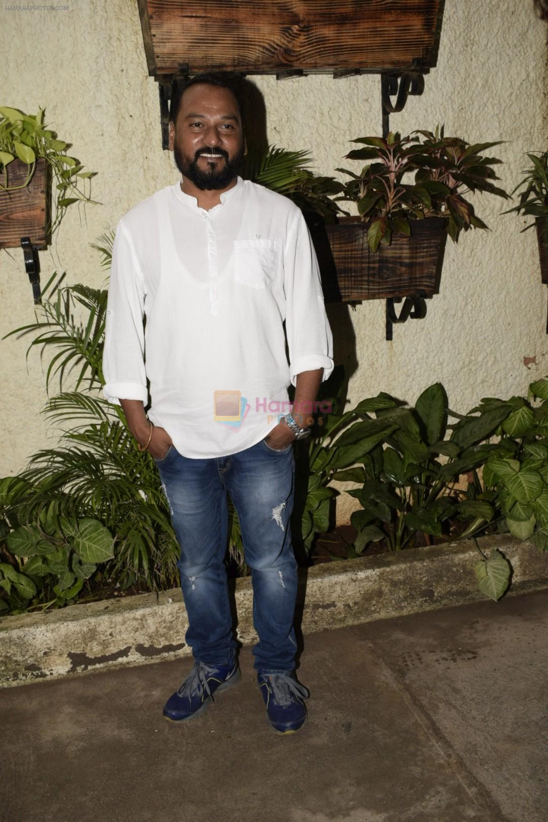 Pandurang Jadhav at the Screening of marathi film Dry Day in sunny sound juhu on 12th July 2018