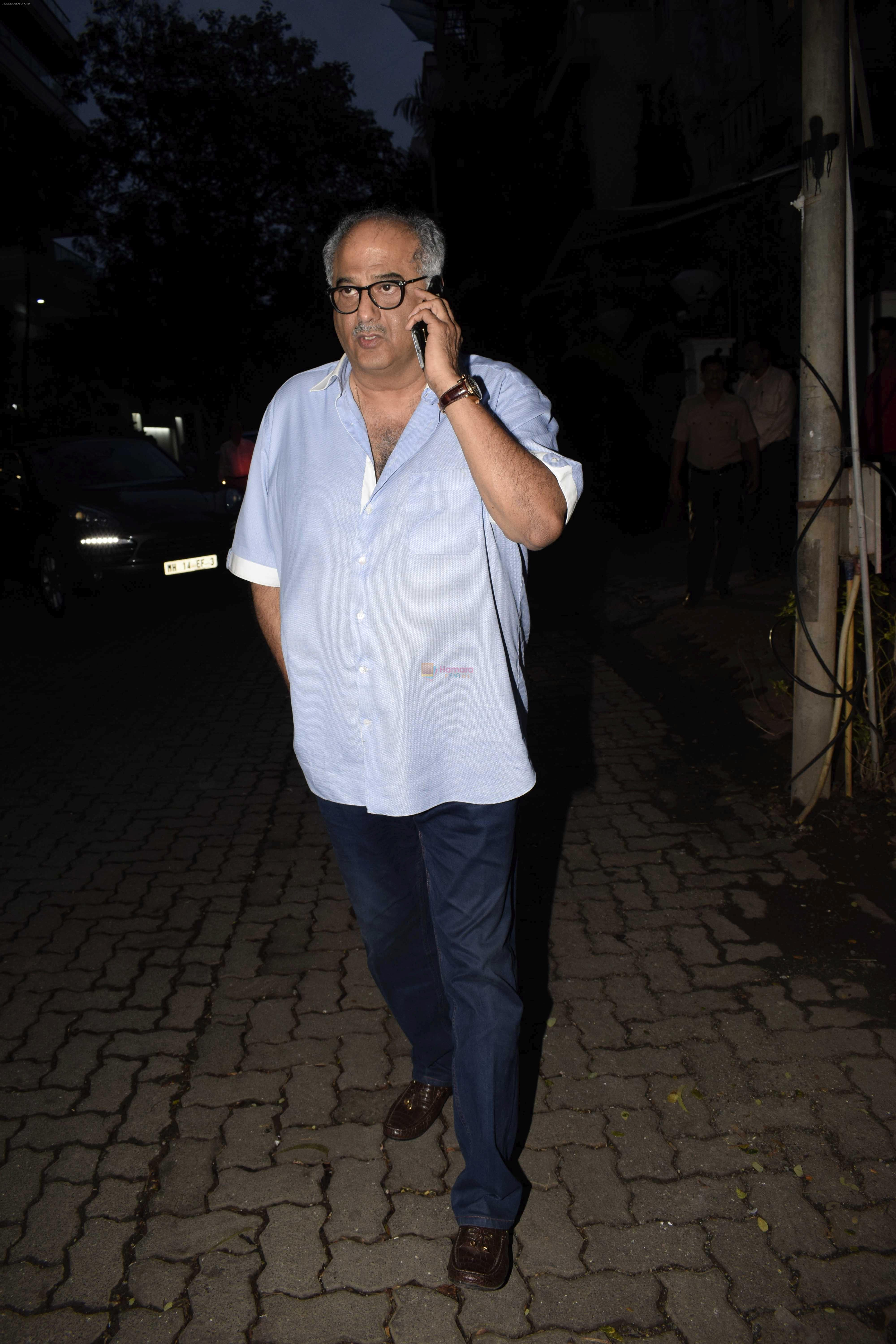 Boney Kapoor spotted at Arjun Kapoor's house in juhu on 25th July 2018