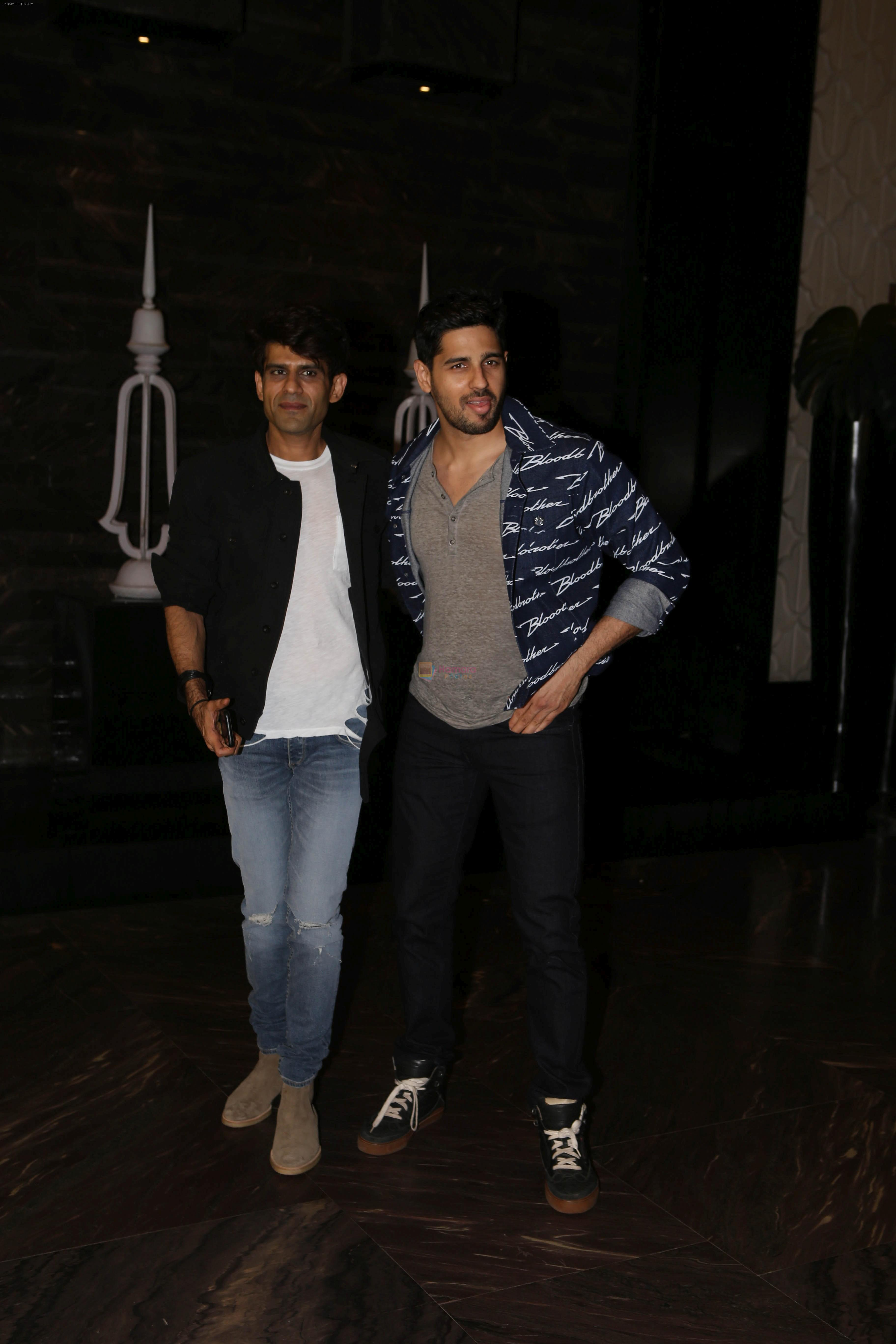 Sidharth Malhotra at Kiara Advani's Birthday Party in St Regis Hotel In Lower Parel on 31st July 2018