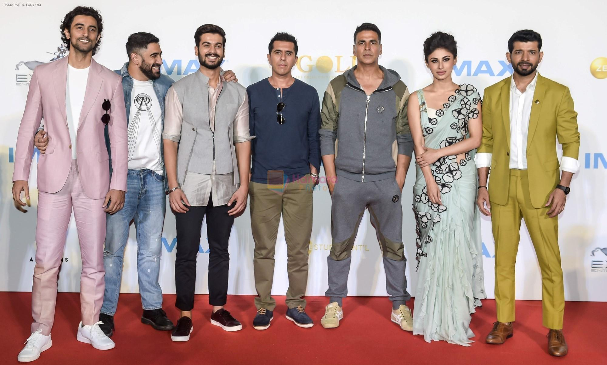 Akshay Kumar, Mouni Roy, Kunal Kapoor, Amit Sadh, Vineet Kumar Singh, Sunny Kaushal, Ritesh Sidhwani at Imax trailer and poster launch of upcoming film Gold on 1st Aug 2018