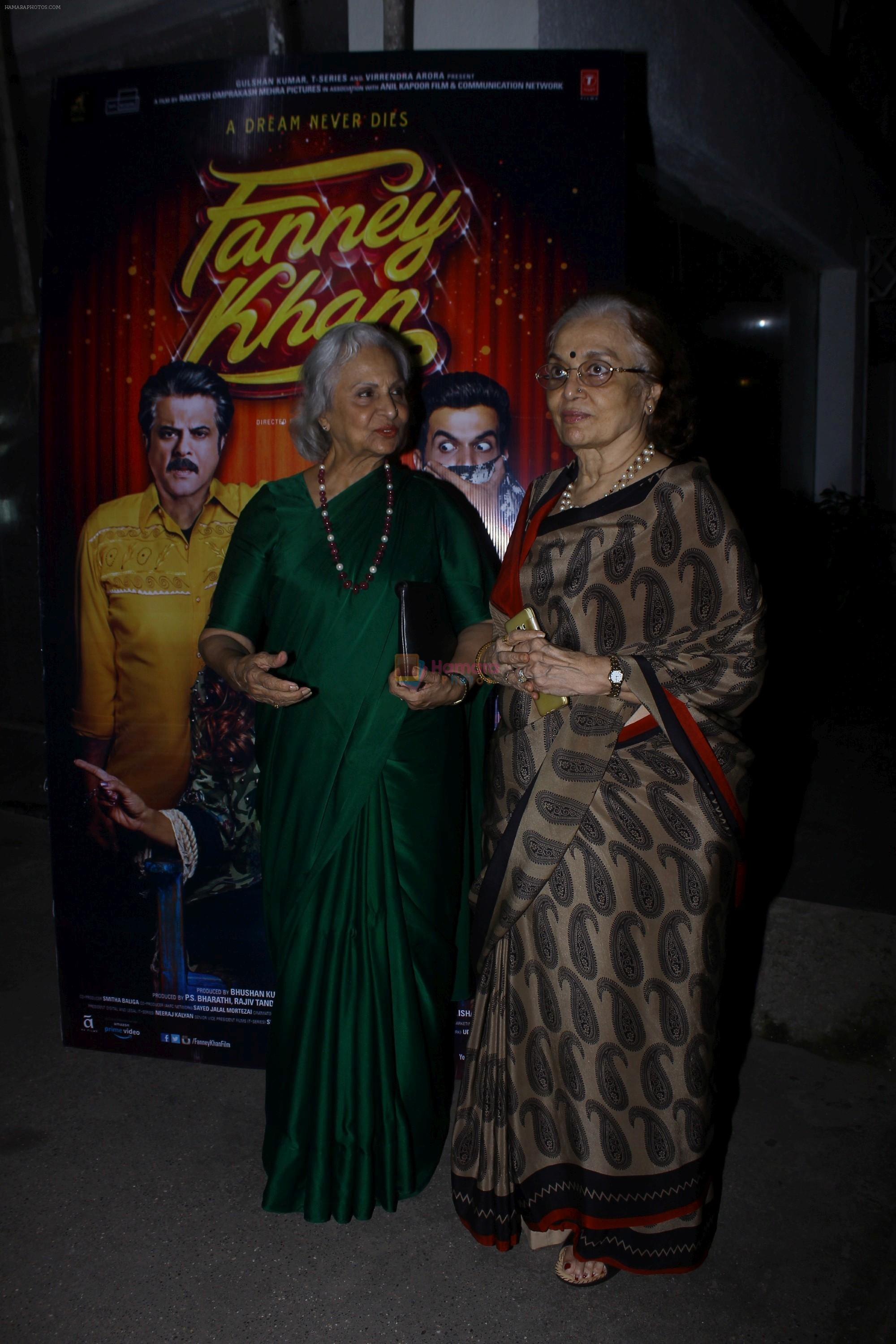 Asha Parekh, Waheeda Rehman at the screening of film Fanney Khan on 1st Aug 2018
