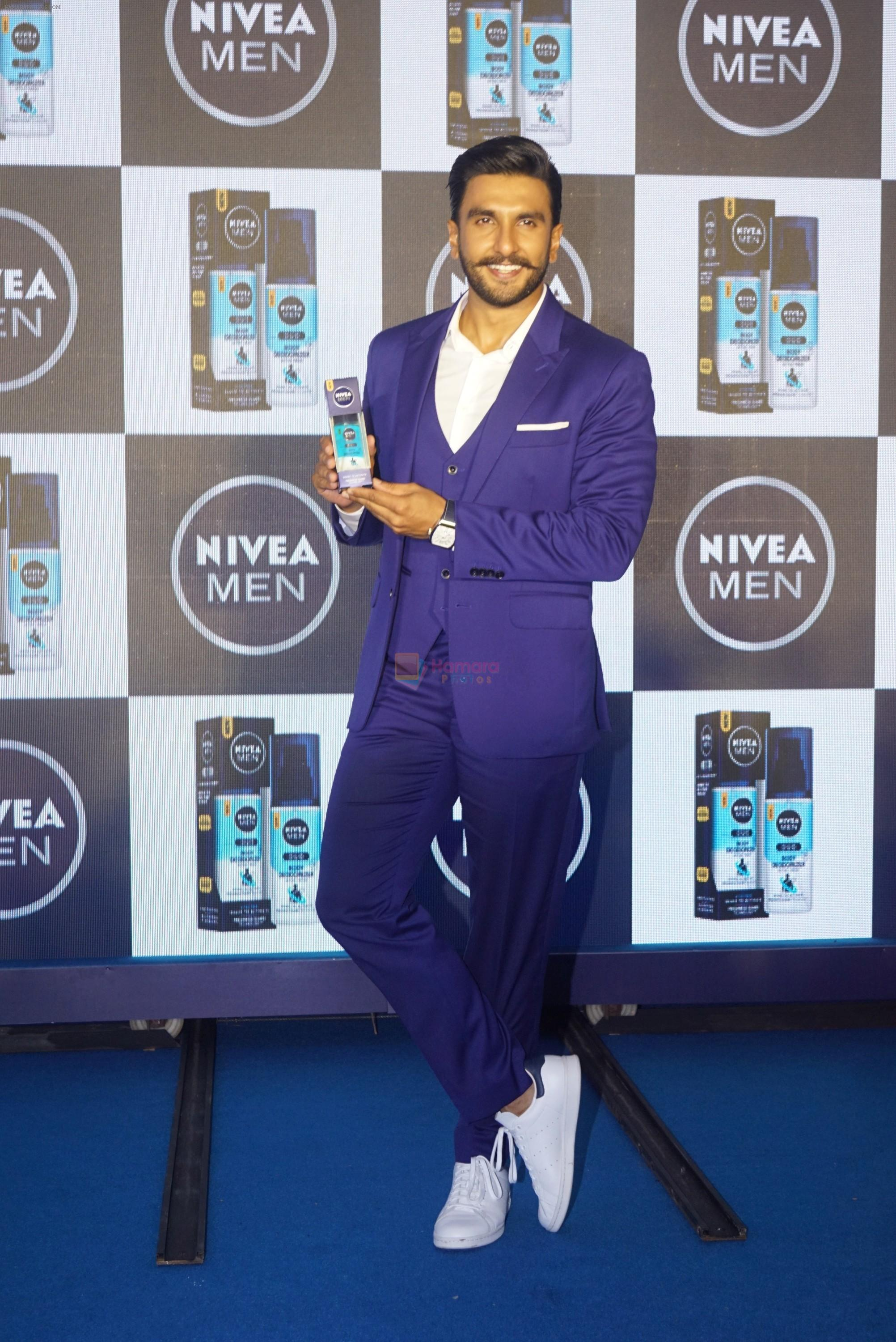 Ranveer singh announced as new face of NIVEA Men on 4th Aug 2018