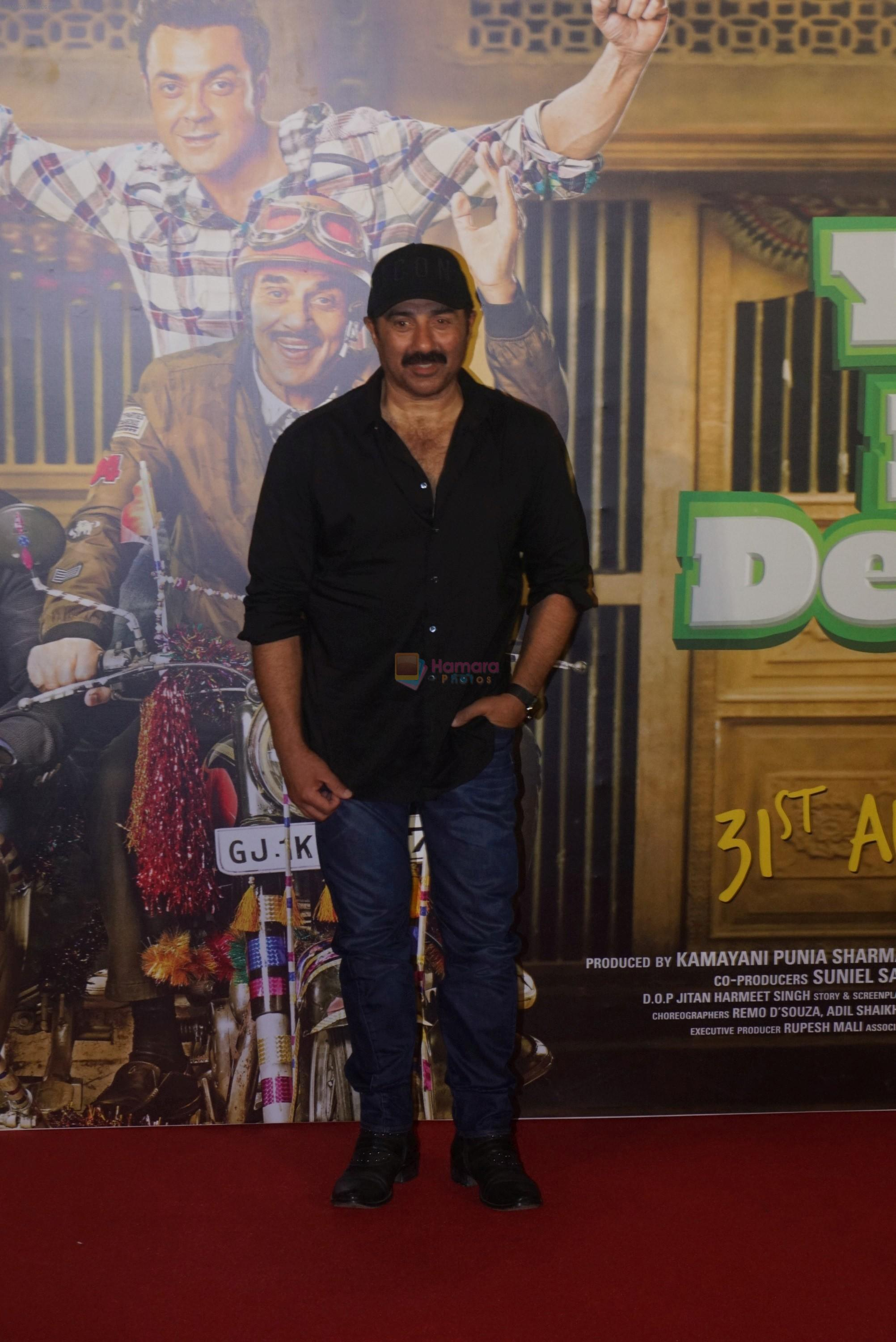 Sunny Deol at the Trailer Launch Of Hindi Film Yamla Pagla Deewana Yamla Pagla Deewana Phir Se on 9th Aug 2018