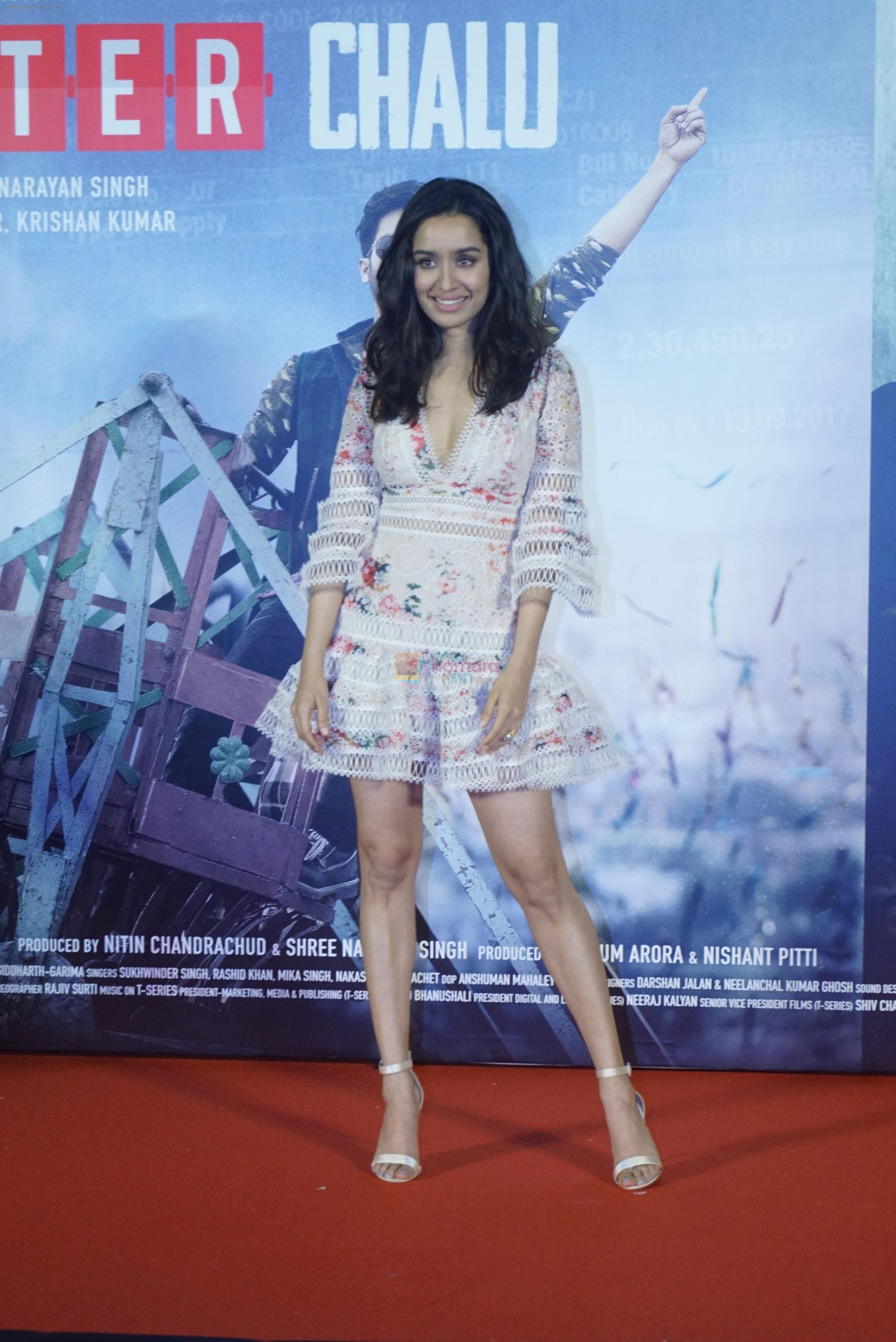 Shraddha Kapoor at the trailer launch of film Batti Gul Meter Chalu on 10th Aug 2018