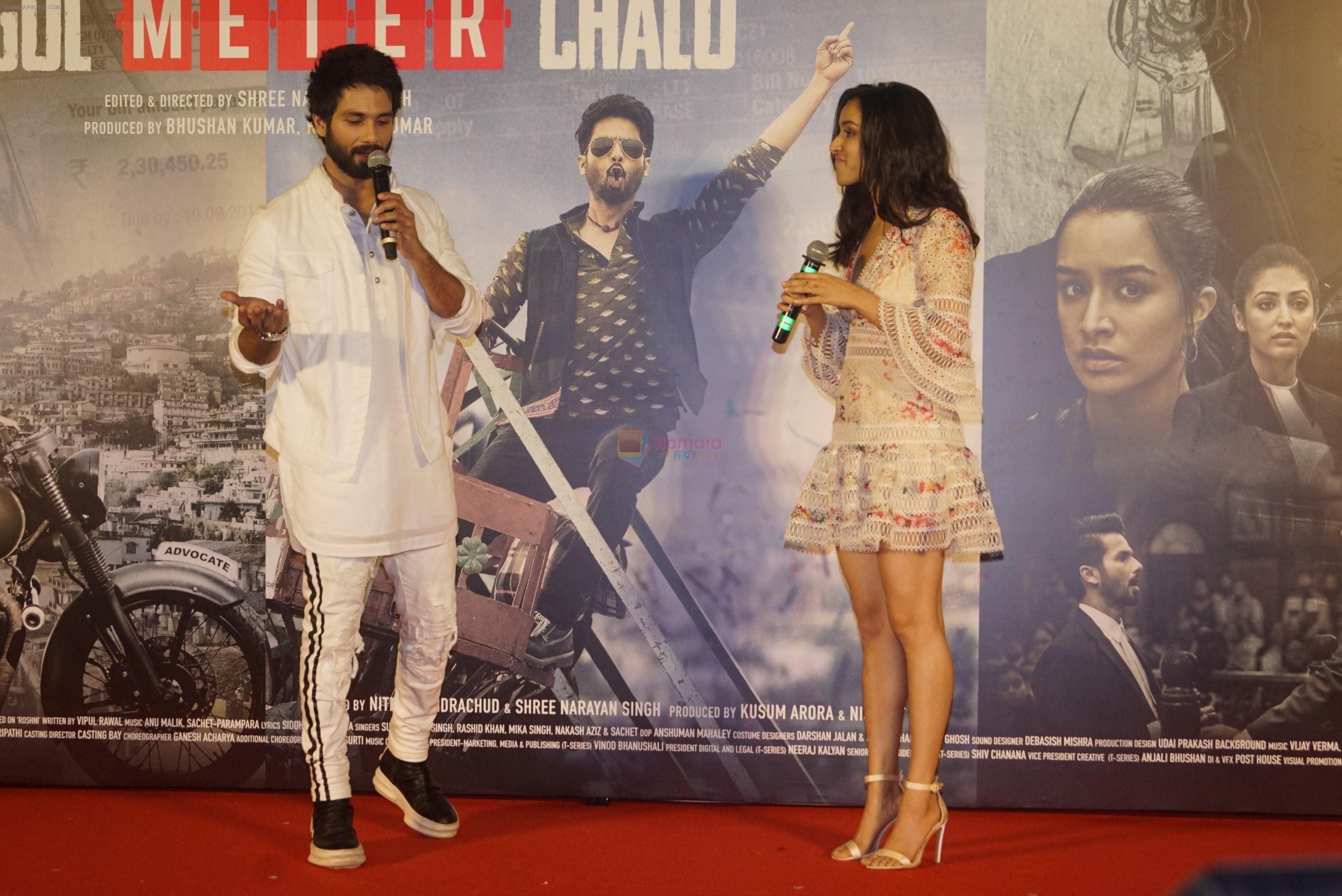 Shraddha Kapoor, Shahid Kapoor at the trailer launch of film Batti Gul Meter Chalu on 10th Aug 2018