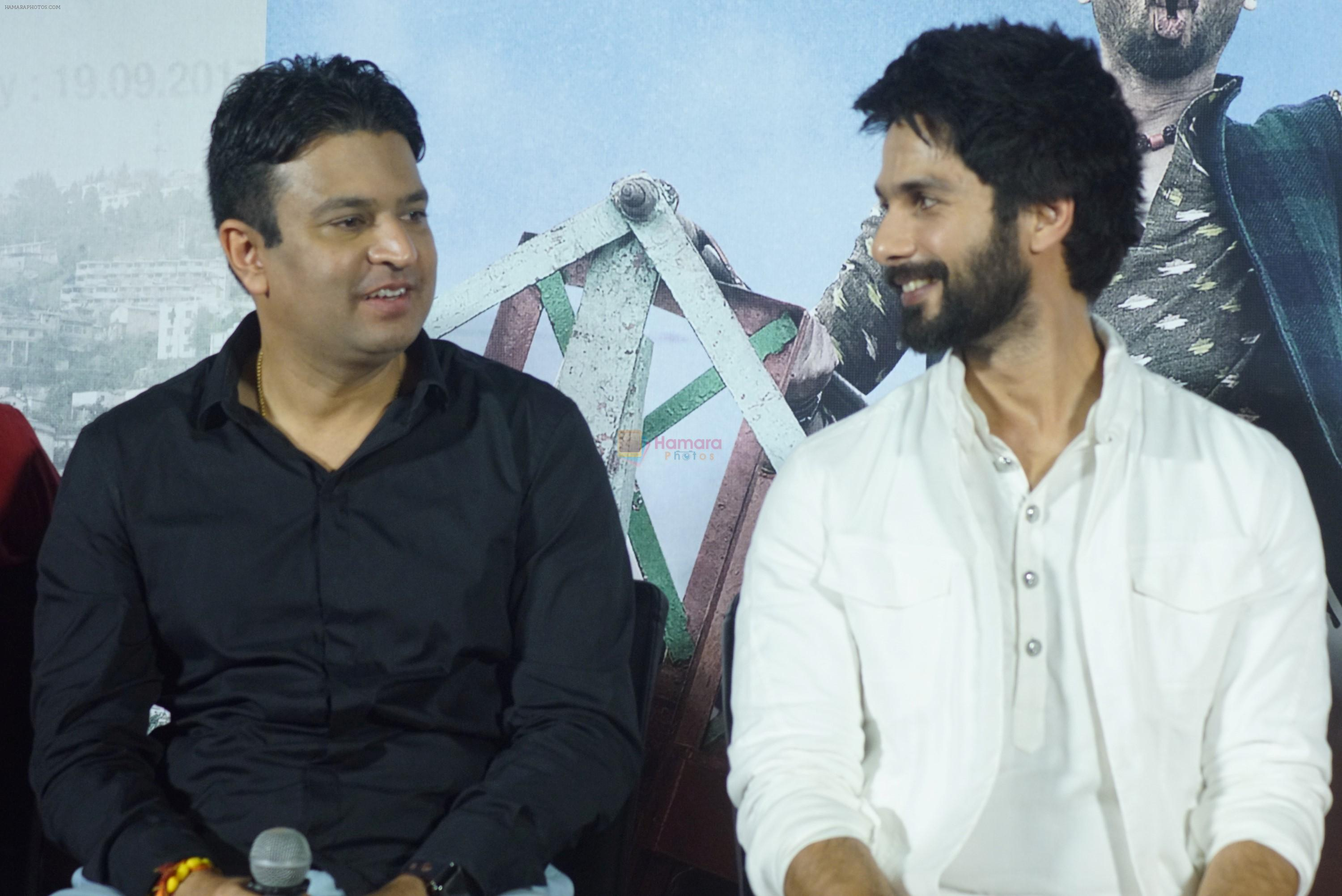 Shahid Kapoor, Bhushan Kumar at the trailer launch of film Batti Gul Meter Chalu on 10th Aug 2018