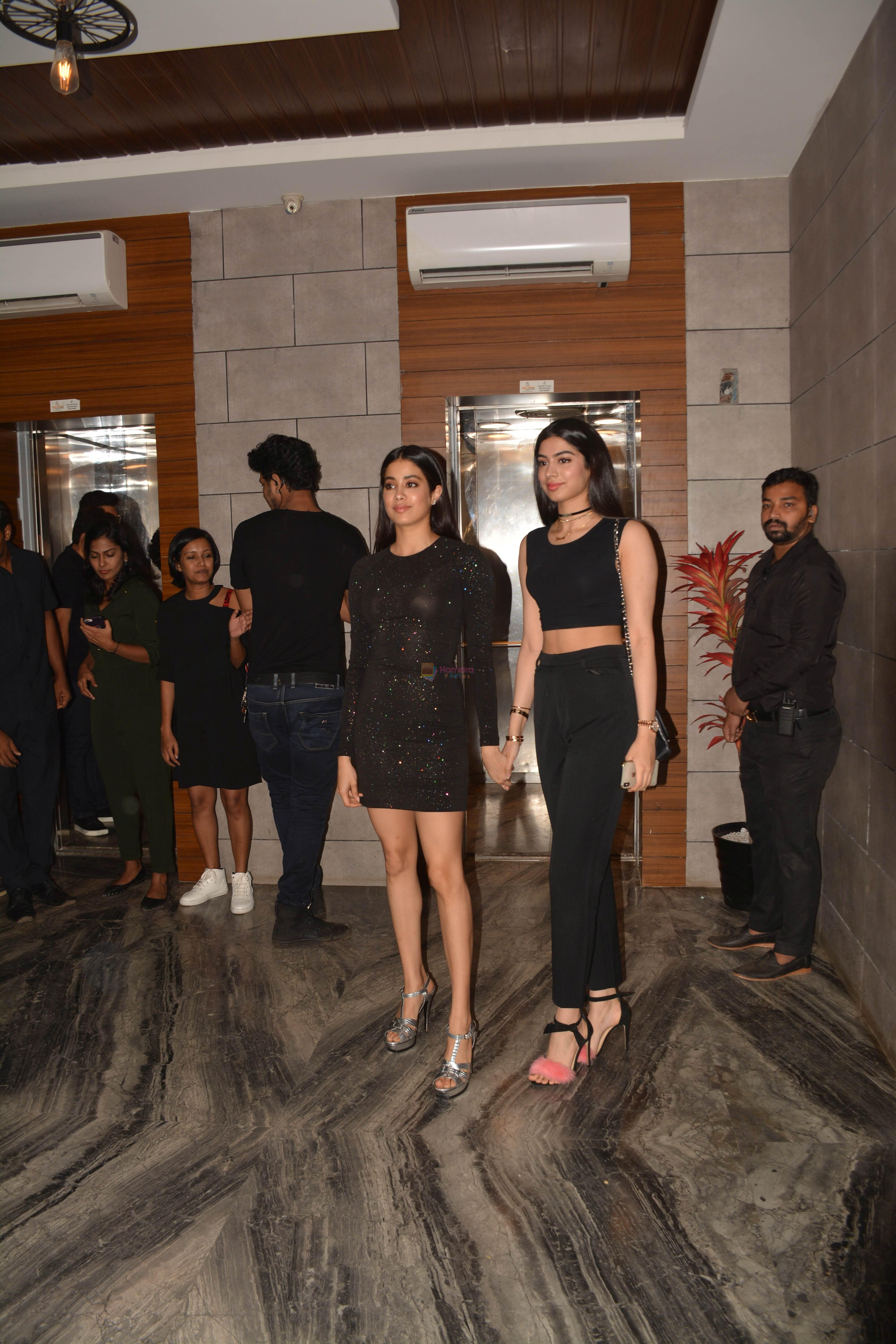 Janhvi Kapoor, Khushi Kapoor at the Success Party Of Film Dhadak in Escobar Bandra on 9th Aug 2018