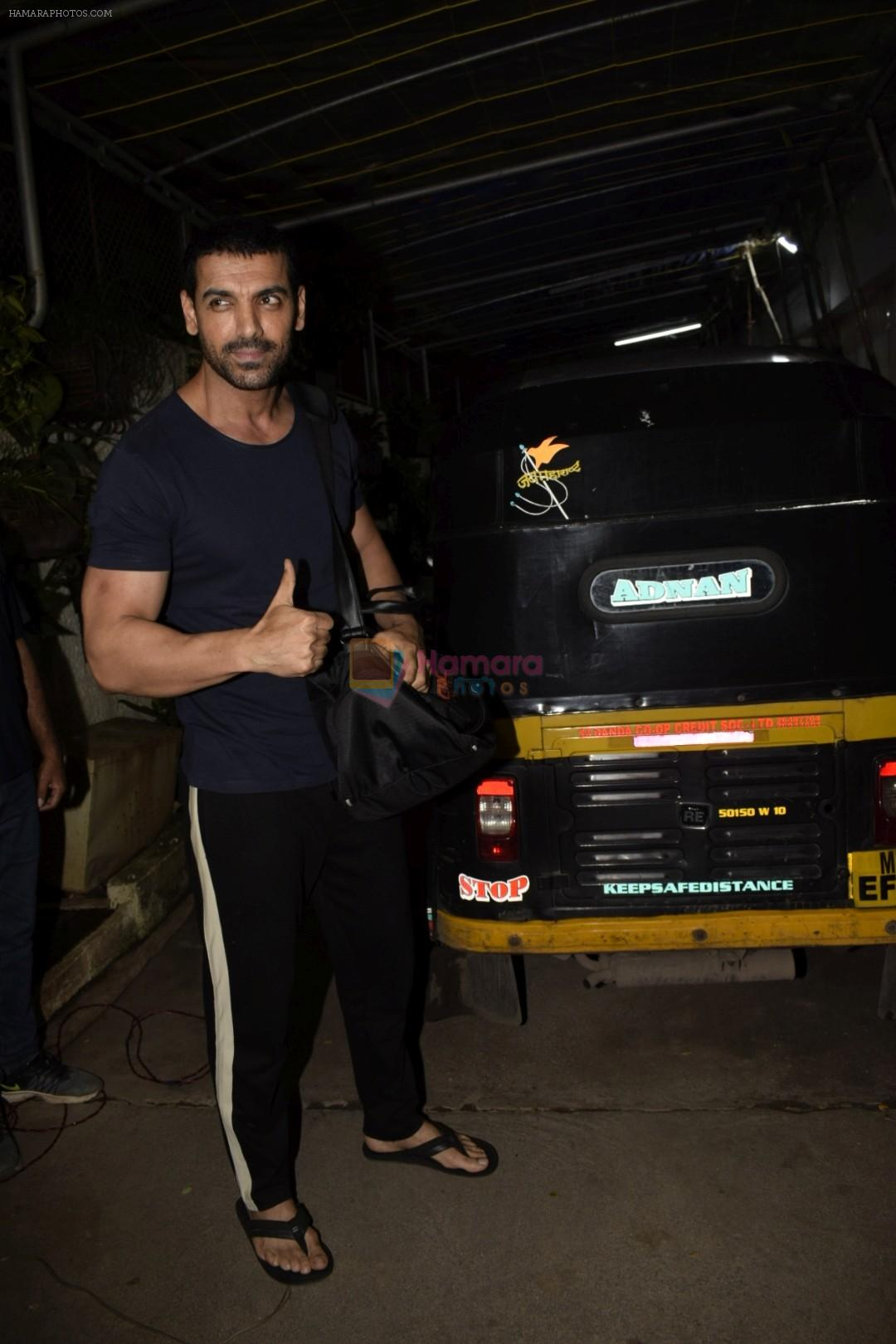 John Abraham at the Screening of Satyamev Jayate in sunny super sound, juhu on 11th Aug 2018