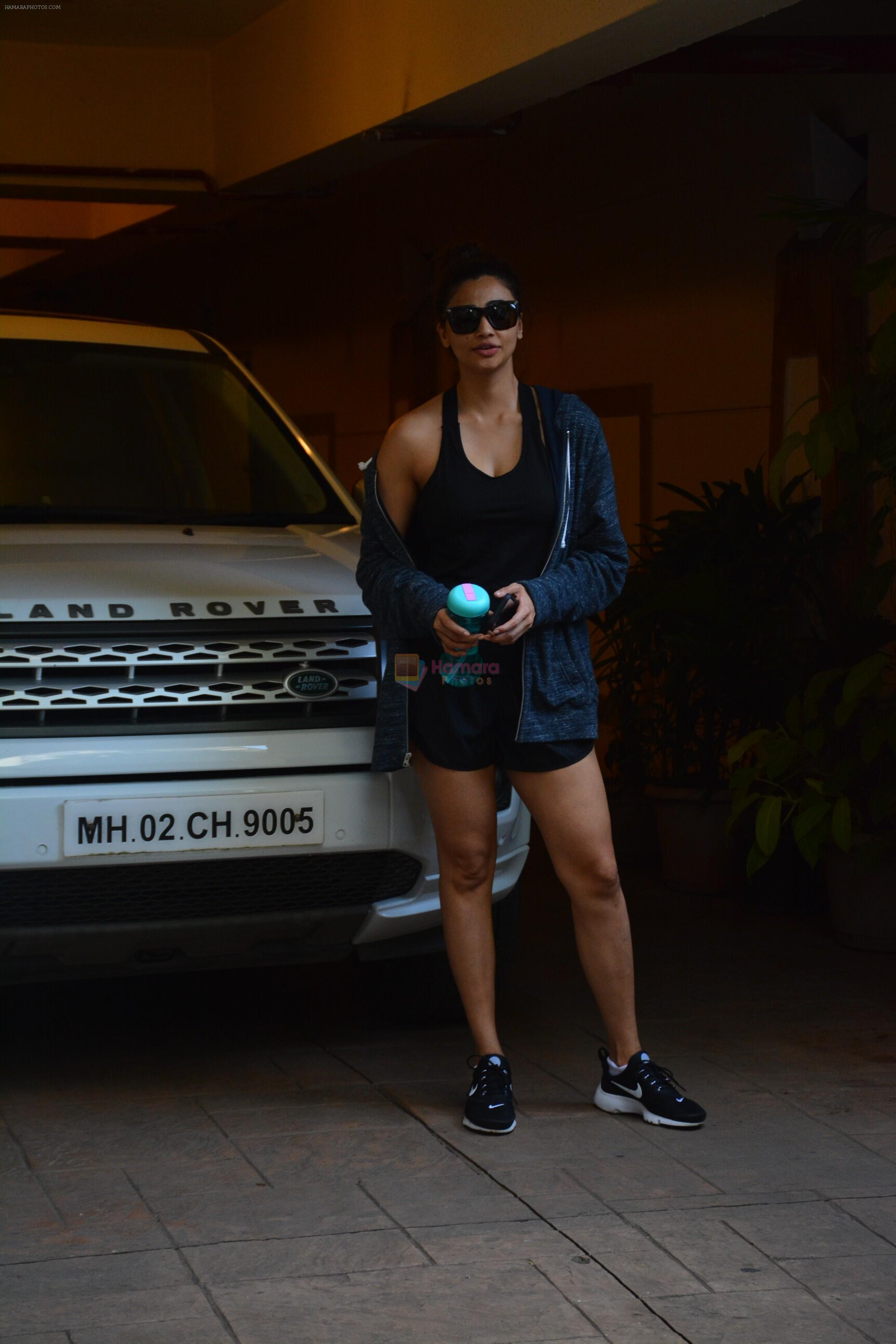 Daisy Shah spotted at bandra on 29th Aug 2018