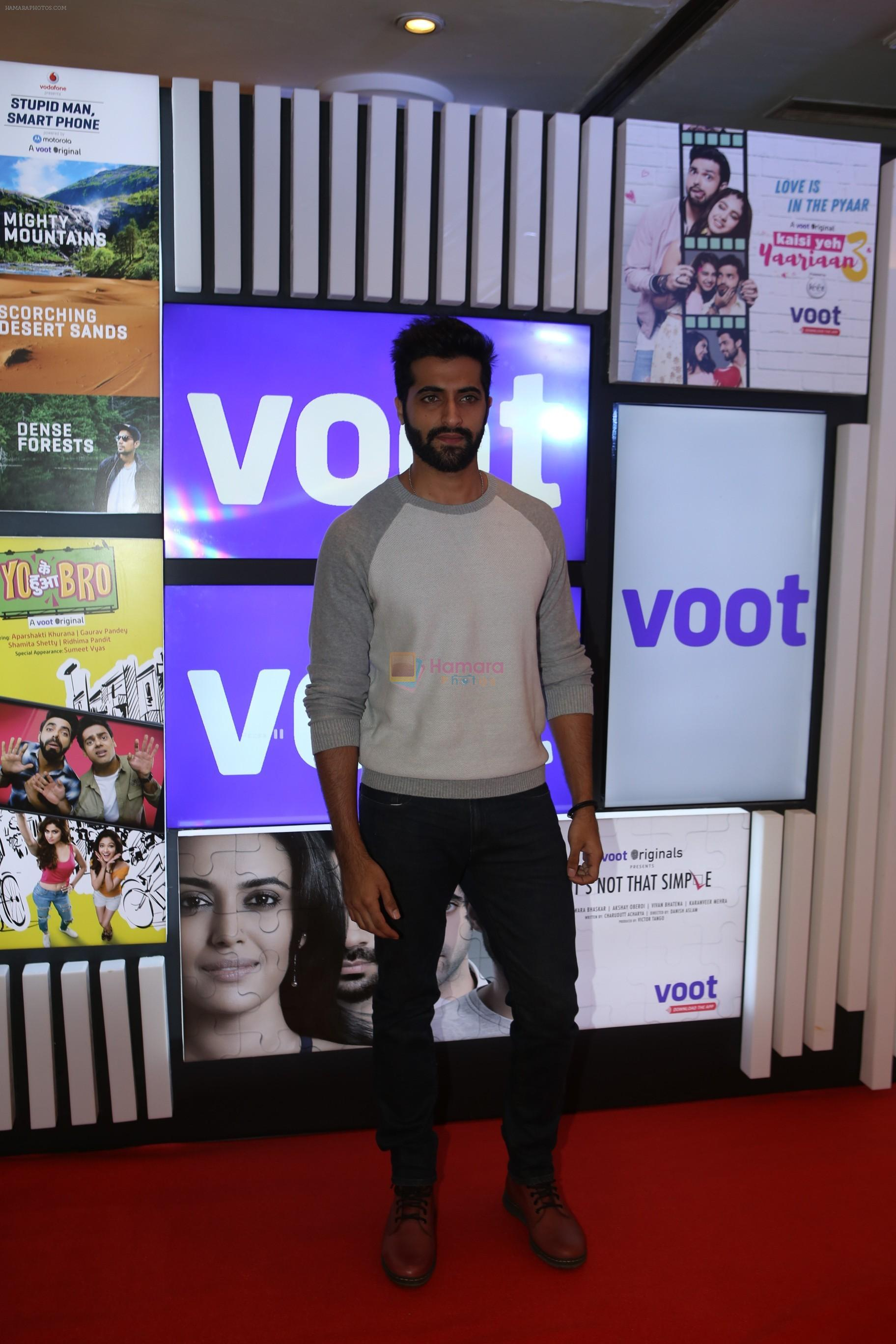 Akshay Oberoi at Voot press conference in ITC Grand Maratha, Andheri on 30th AUg 2018