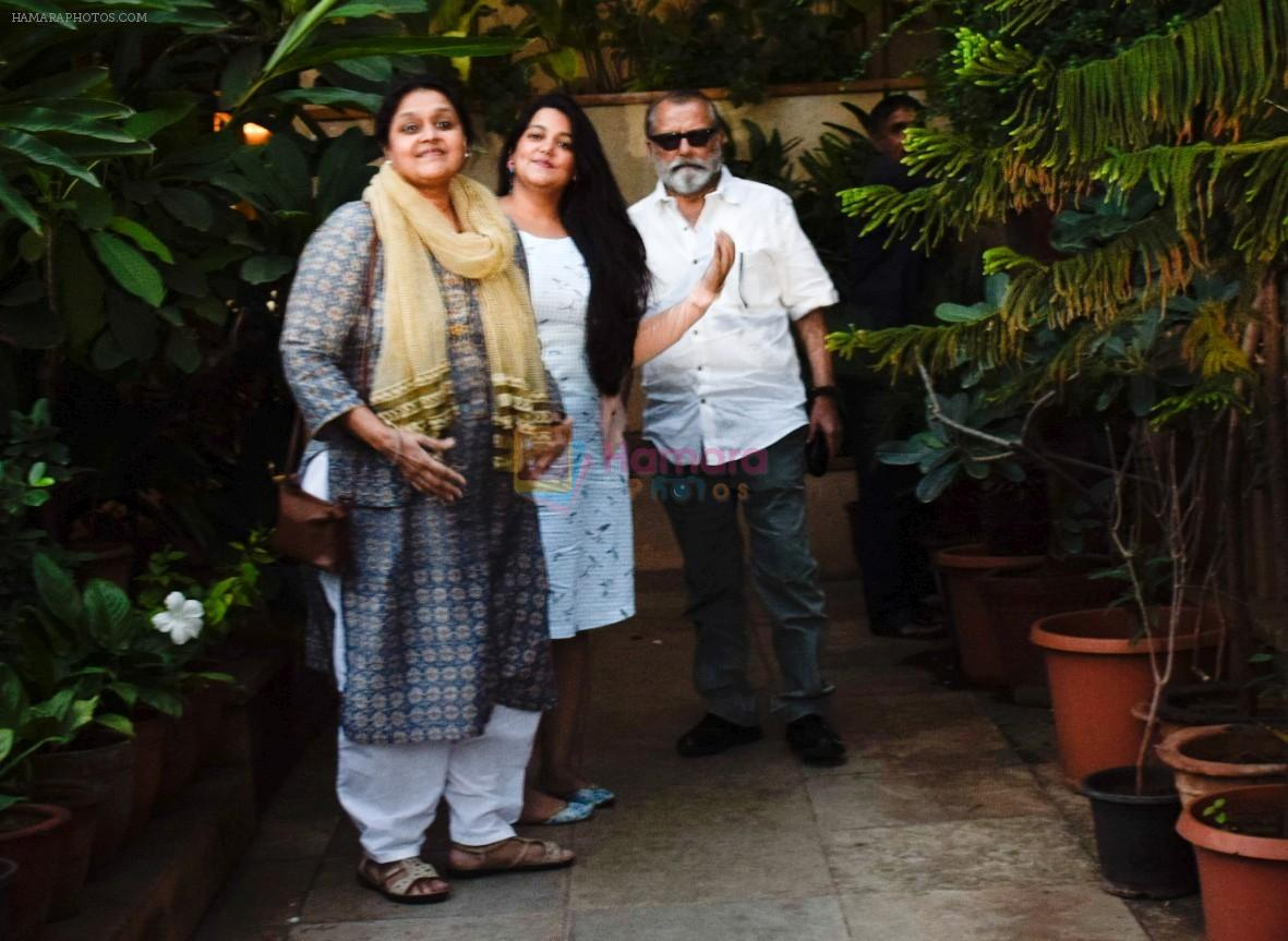 Pankaj Kapoor , Supriya Pathak & daughter Sanah Kapoor at Shahid Kapoor's house in juhu on 7th Sept 2018