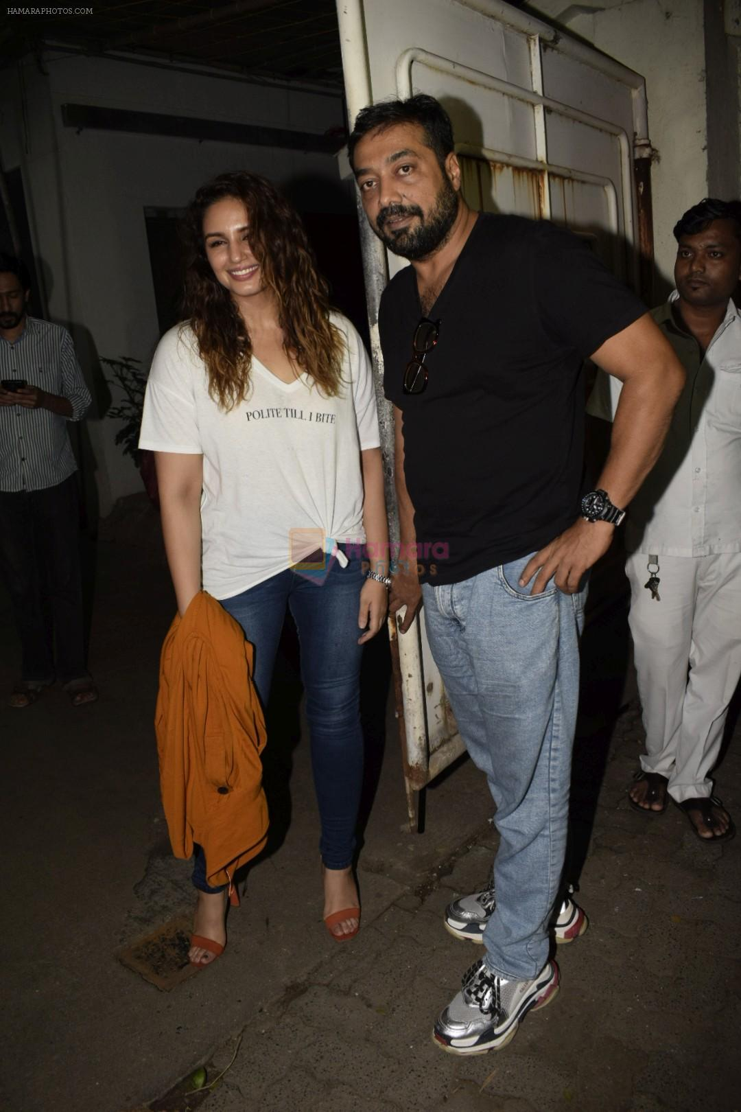 Huma Qureshi, Anurag Kashyap at the Screening Of Film Manmarziyaan on 7th Sept 2018