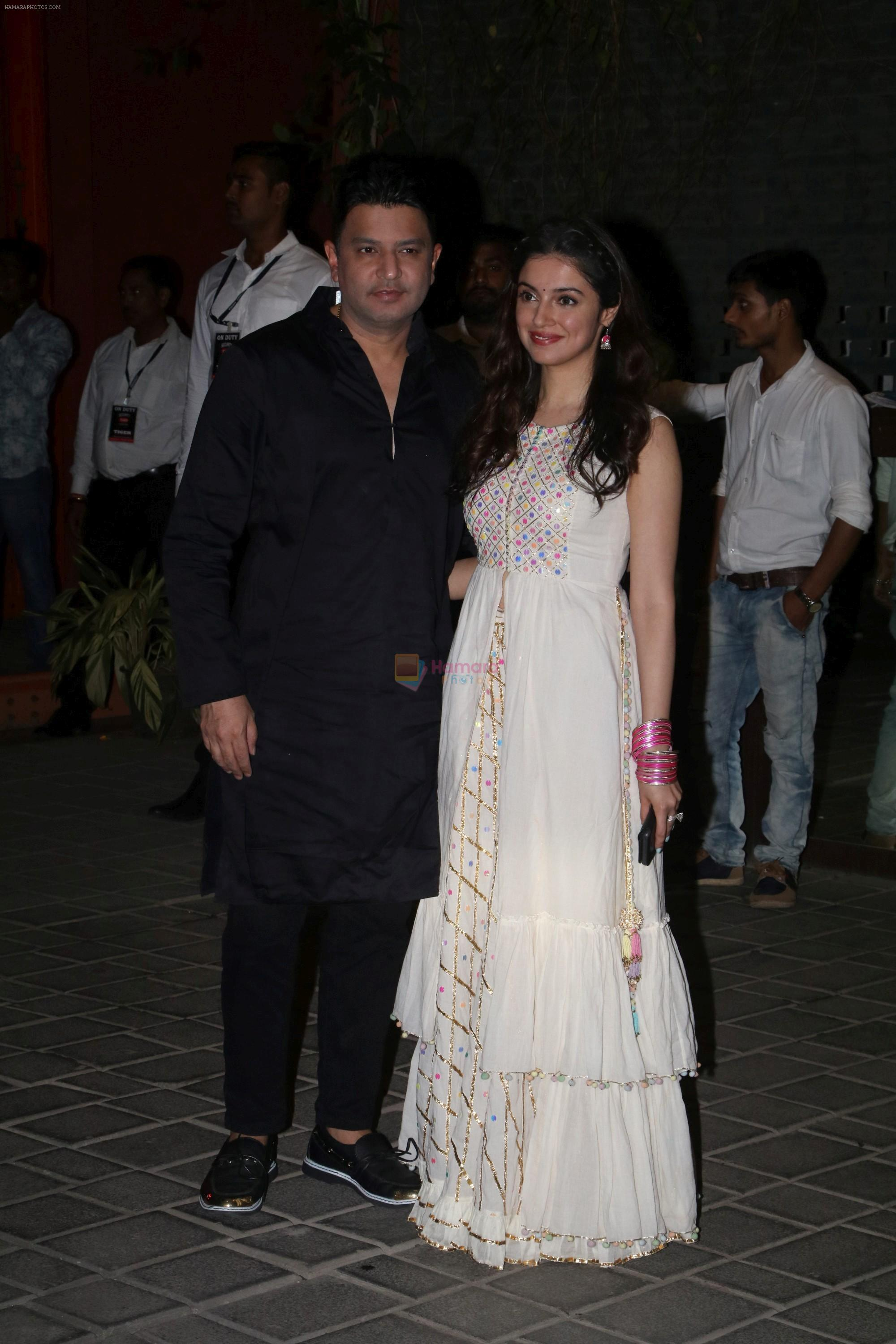 Bhushan Kumar, Divya Kumar at Ganpati celebrations in Arpita Khan's home in khar on 13th Sept 2018