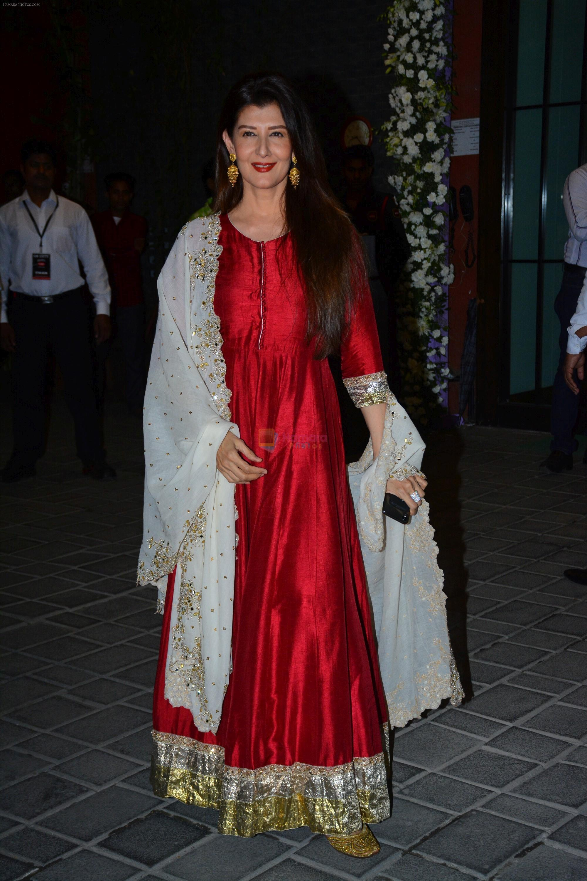 Sangeeta Bijlani at Ganpati celebrations in Arpita Khan's home in khar on 13th Sept 2018
