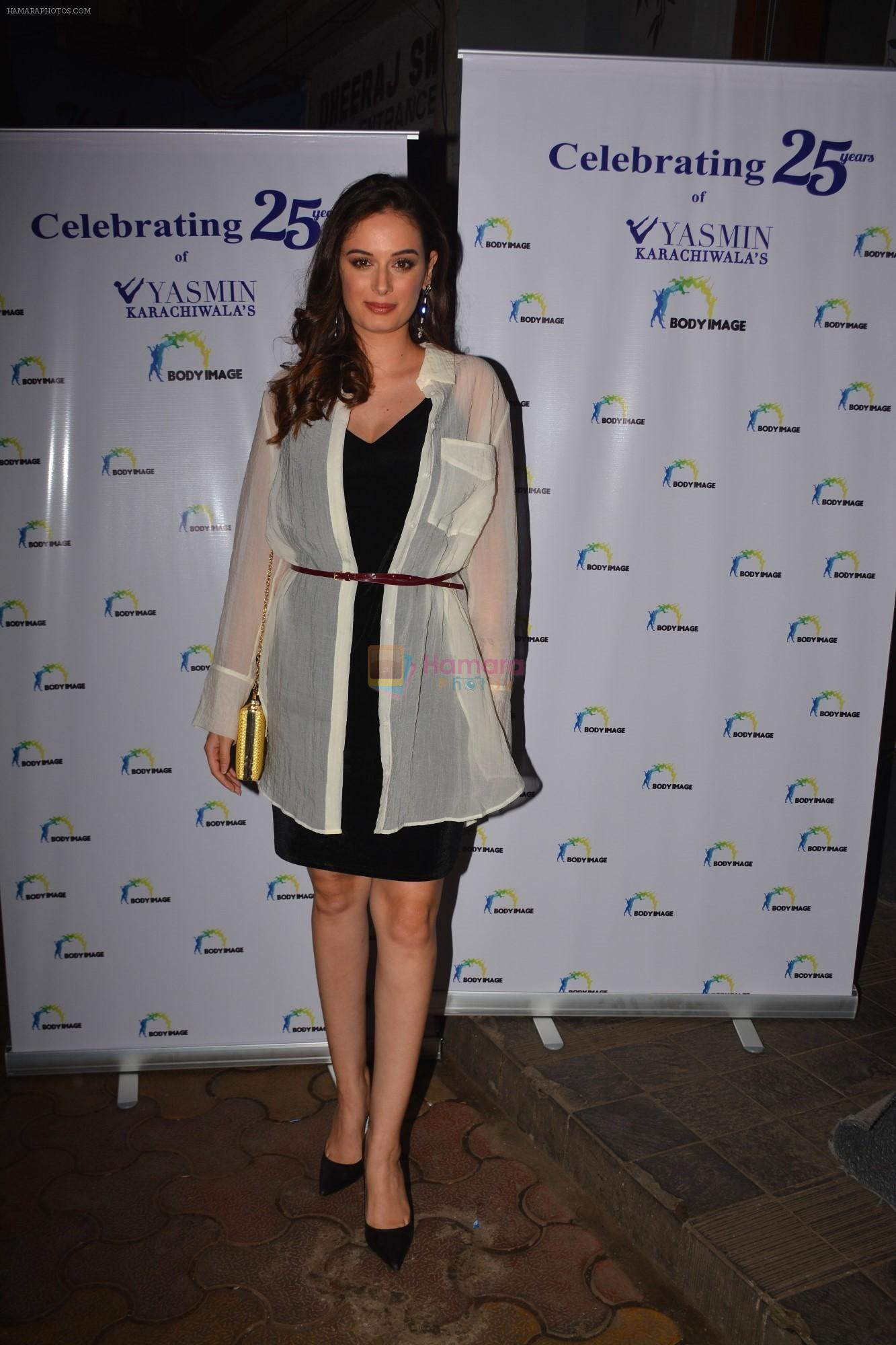 Evelyn Sharma at the celebration of Yasmin Karachiwala's 25years in Fitness Training At Bandra on 23rd Sept 2018