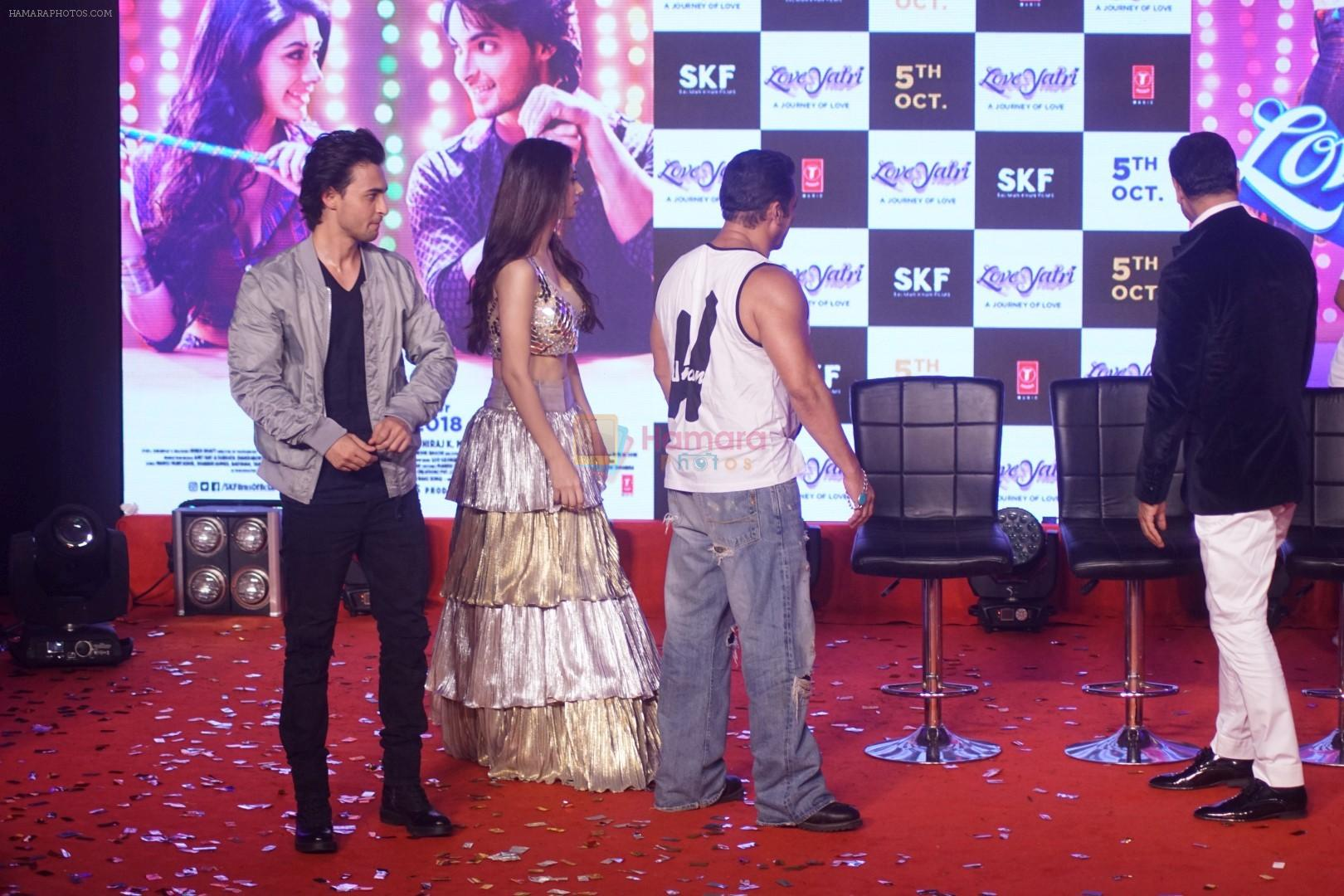 Salman Khan, Aayush Sharma, Warina Hussain at Musical Concert Celebrating the journey of Loveyatri on 26th Sept 2018