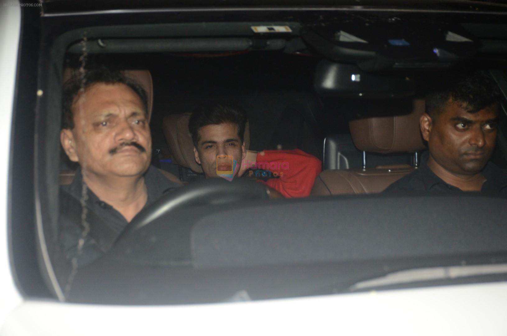 Karan Johar At Ranbir Kapoor's House on 26th Sept 2018
