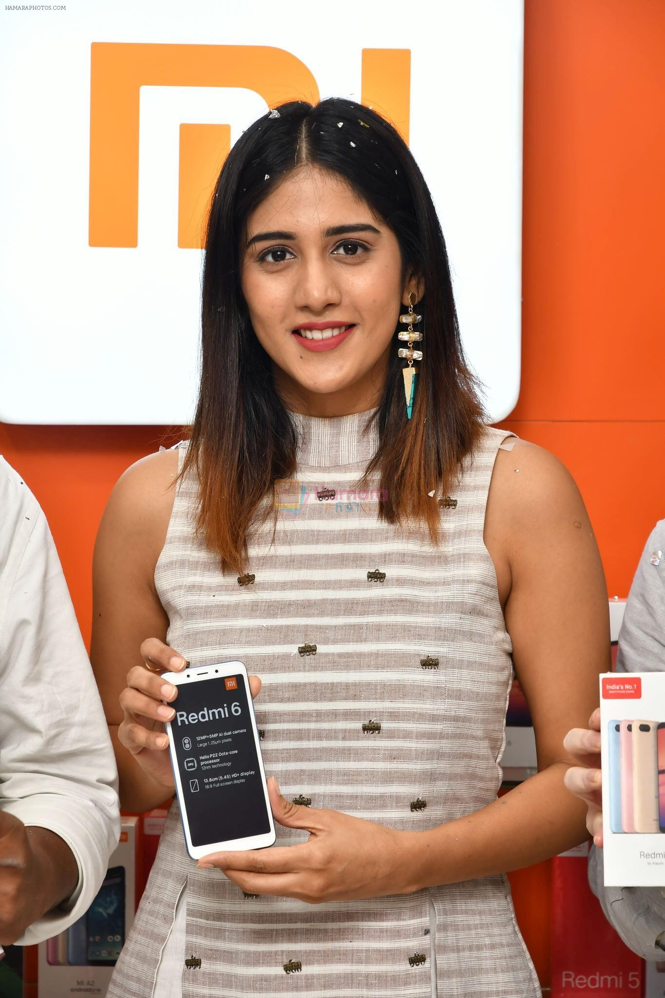 Chandini Chowdary at the launch of RedMi 6 Mobile Offline at Cellbay showroom-Gachibowli Branch on 30th Sept 2018