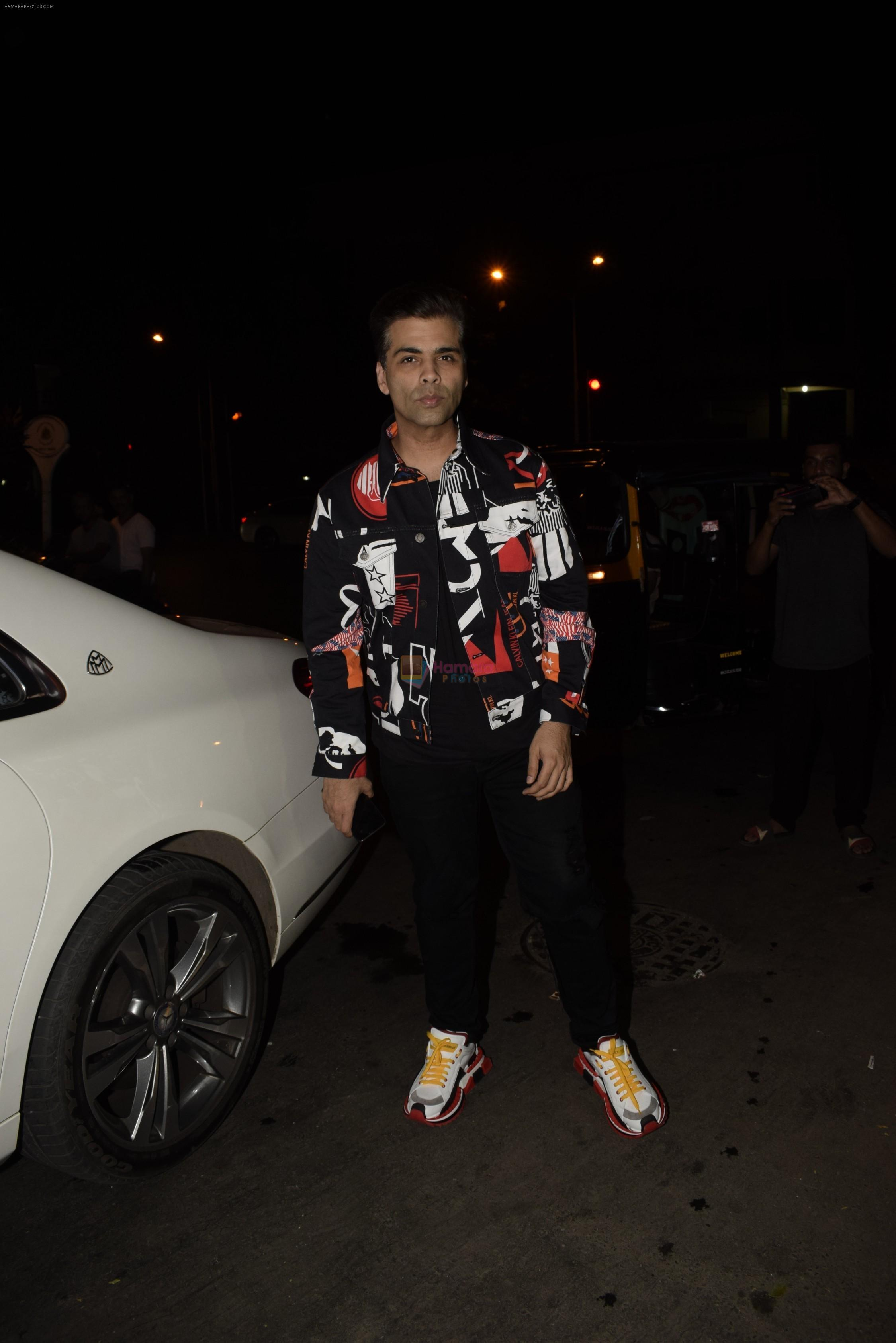 Karan Johar at Soha Ali Khan's birthday party in Bastian, bandra on 3rd Oct 2018