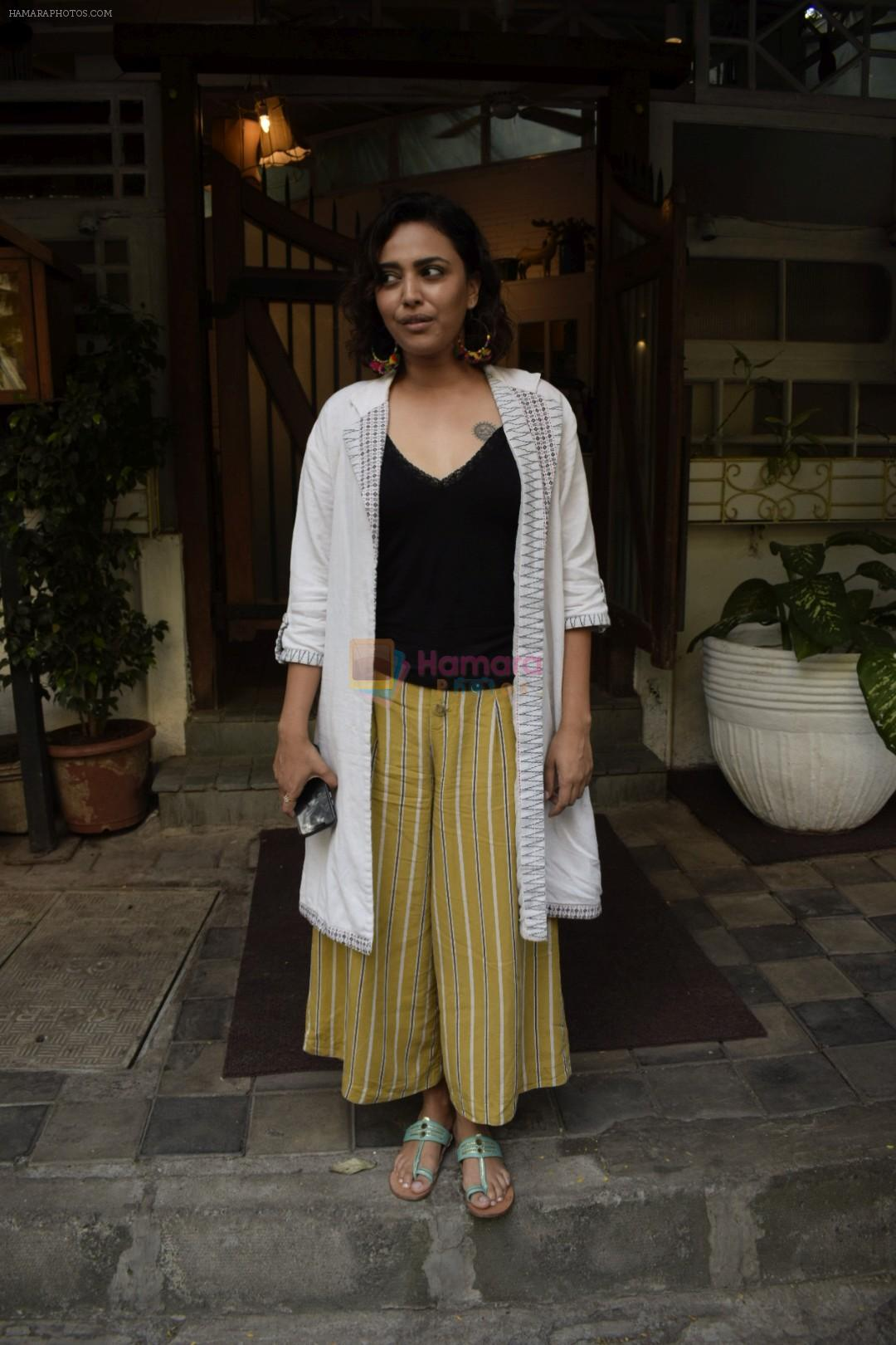 Swara Bhaskar spotted at Fable juhu on 5th Oct 2018