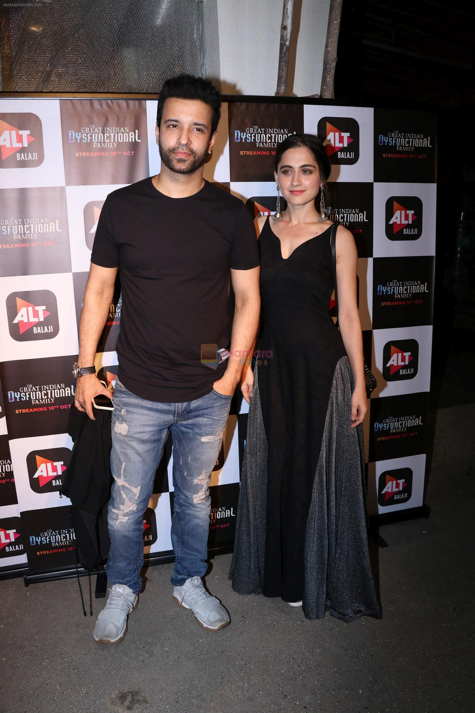 Aamir Ali, Sanjeeda at the Screening of Alt Balaji's new web series The Dysfunctional Family in Sunny Super Sound juhu on 10th Oct 2018