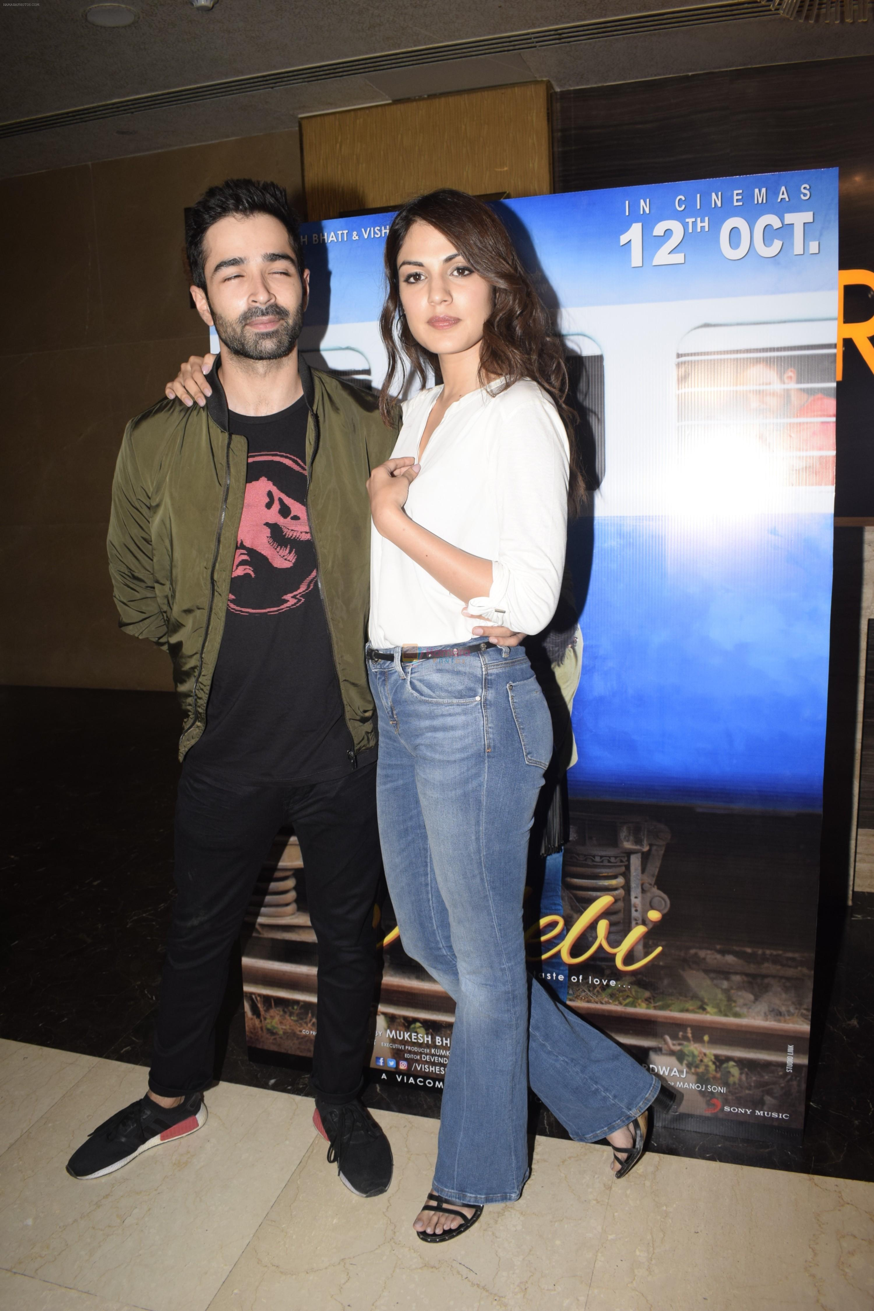 Rhea Chakraborty, Varun Mitra at the Screening of film Jalebi in pvr icon, andheri on 11th Oct 2018