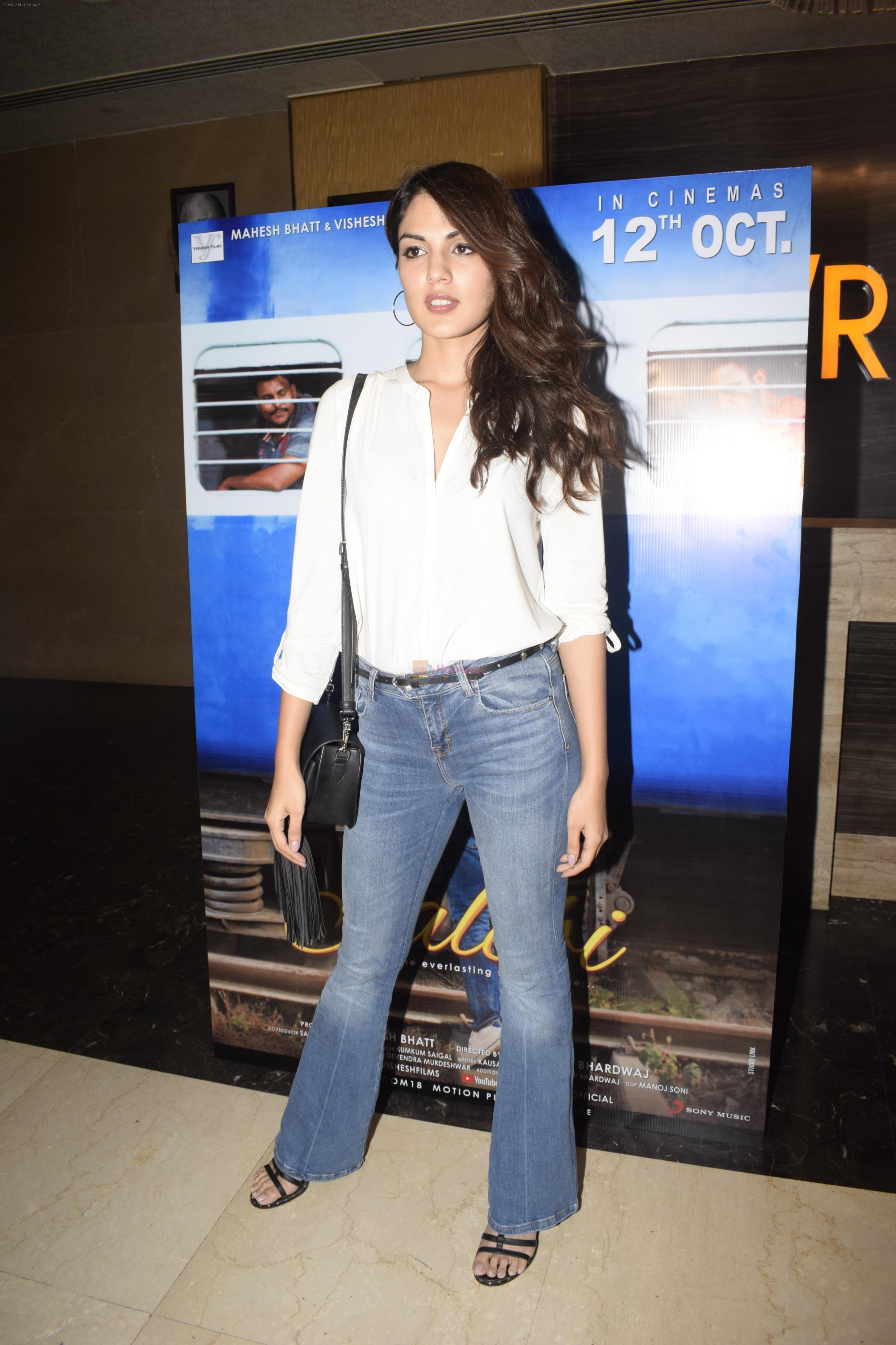Rhea Chakraborty at the Screening of film Jalebi in pvr icon, andheri on 11th Oct 2018
