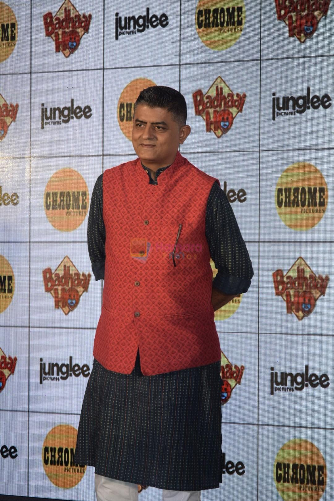 Gajraj Rao at Mumbai's biggest godh bharai hosted by the team of Badhaai Ho at Raheja Classic club in andheri on 10th Oct 2018
