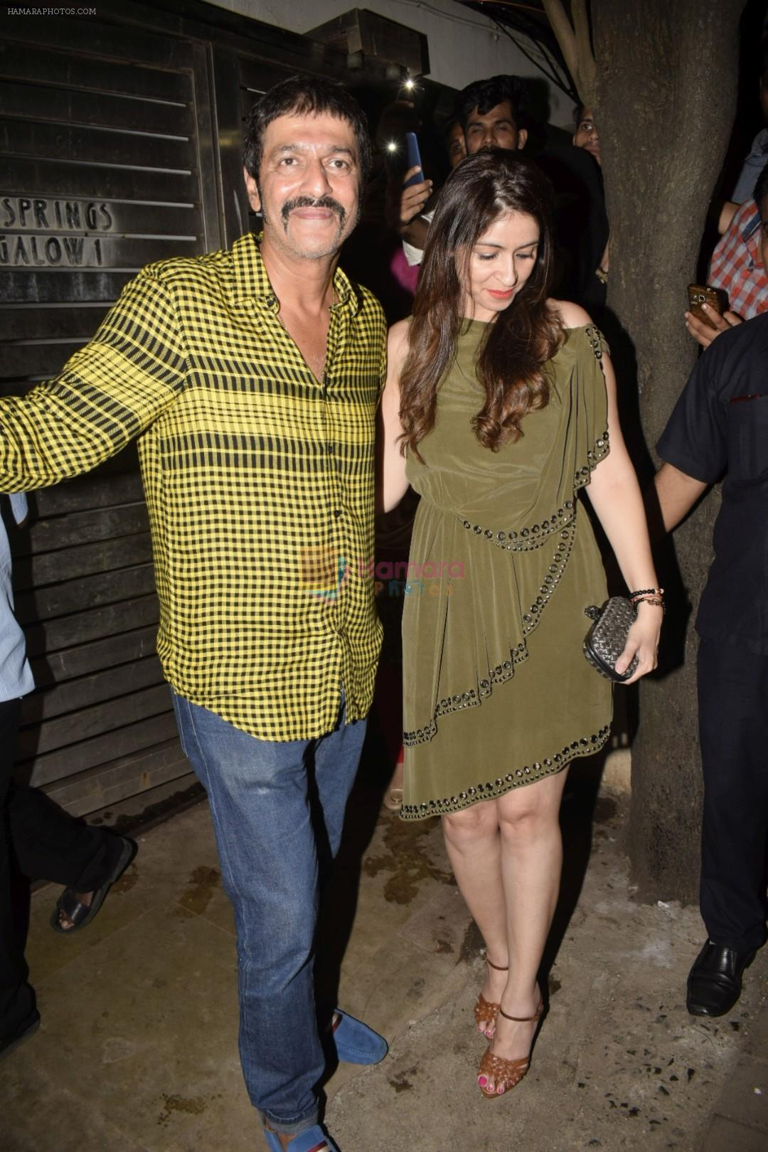 Chunky Pandey at Zoya Akhtar's birthday party in bandra on 14th Oct 2018