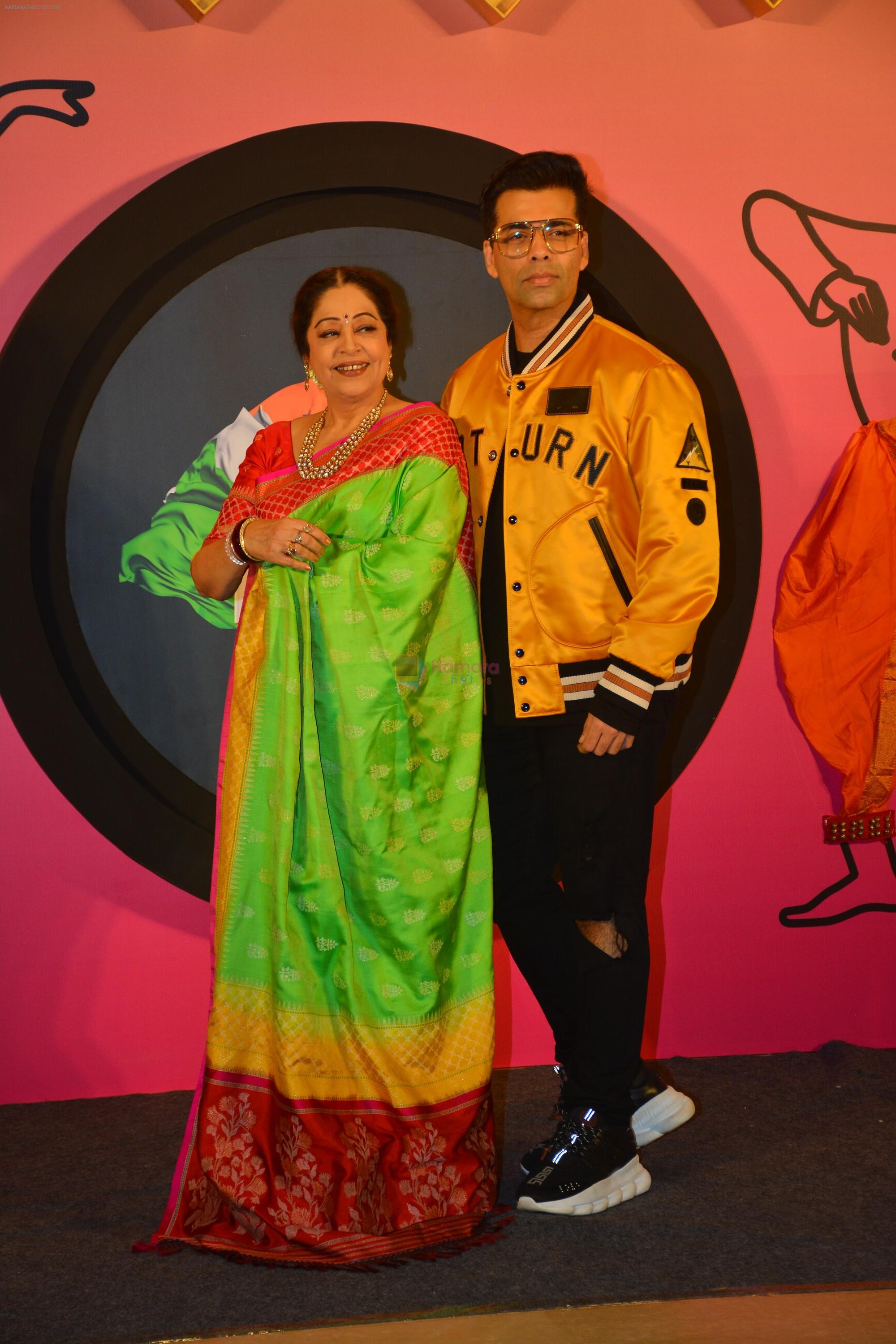 Kirron Kher, Karan Johar at the Launch of India's got talent in Trident bkc on 14th Oct 2018
