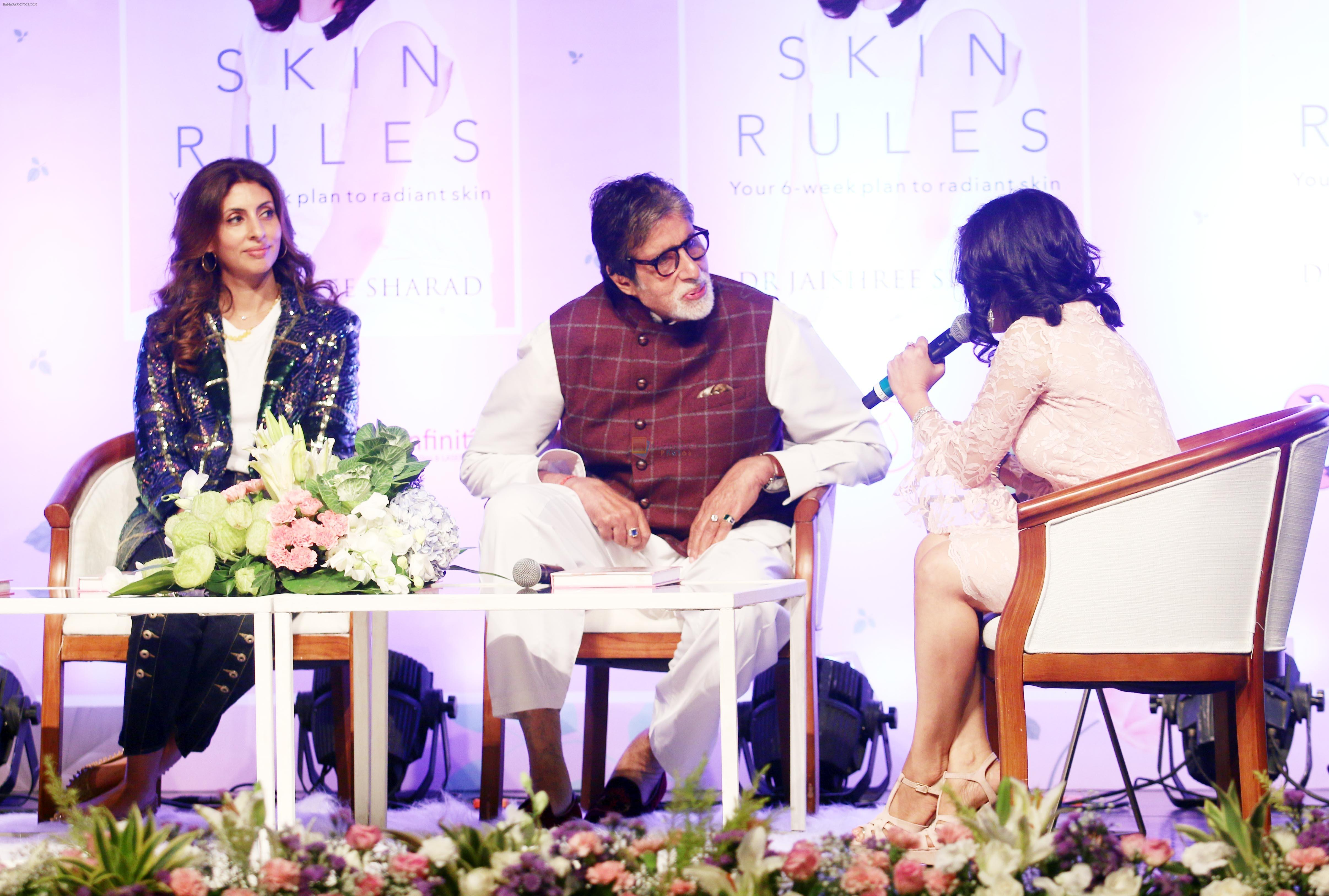Amitabh Bachchan, Shweta Nanda at the launch of Dr Jayshree Sharad's book Skin Rules at Bal Gandharva Rangmandir in bandra on 24th Oct 2018