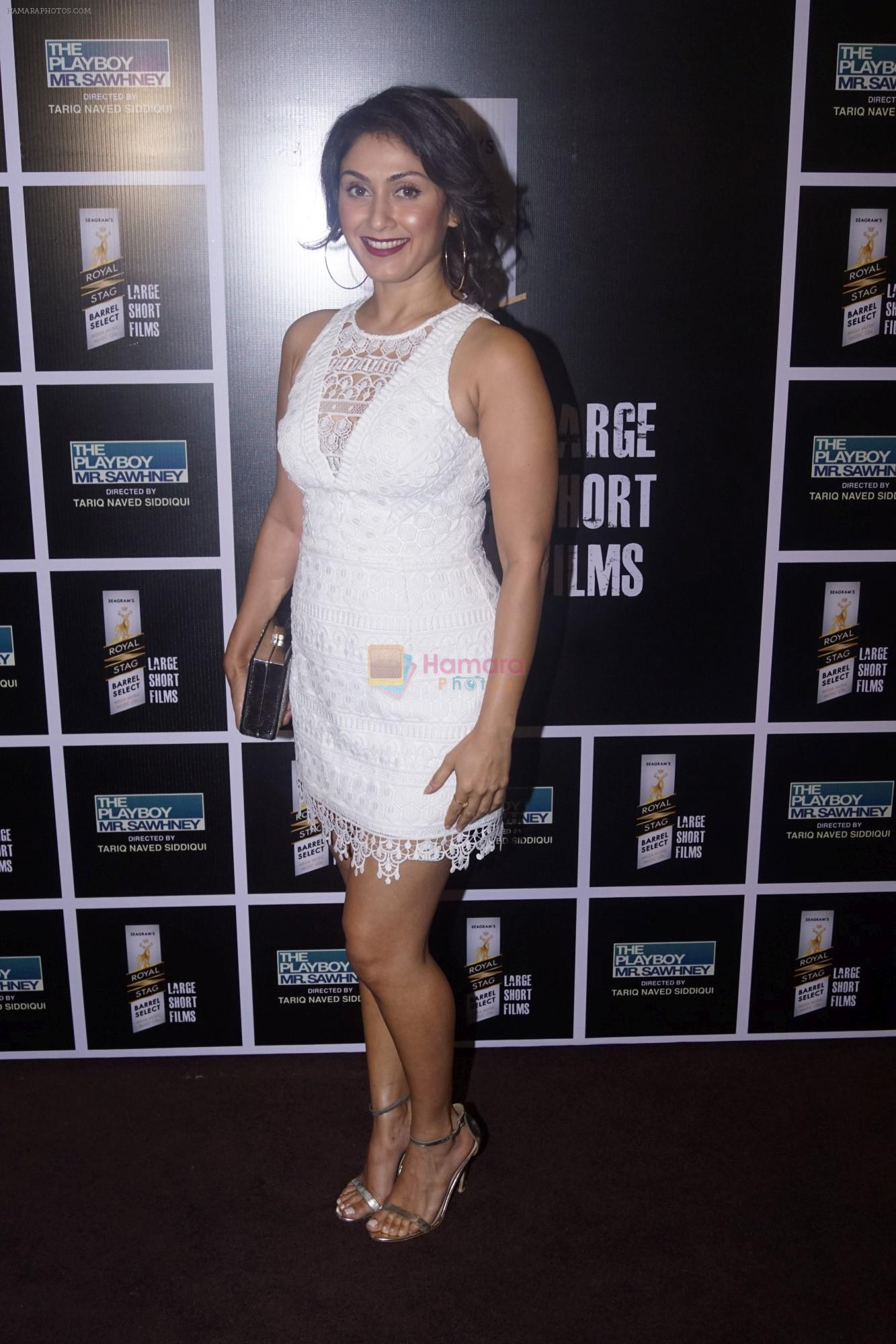 Manjari Phadnis at the Special Screening of Royal Stag Barrel Short Film The Playboy Mr.Sawhney on 24th Oct 2018