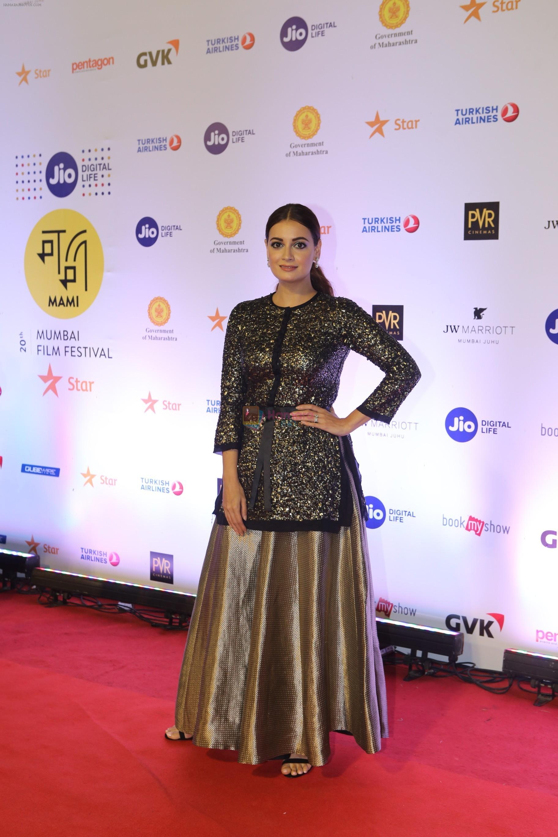 Dia Mirza at the Opening ceremony of Mami film festival in Gateway of India on 25th Oct 2018