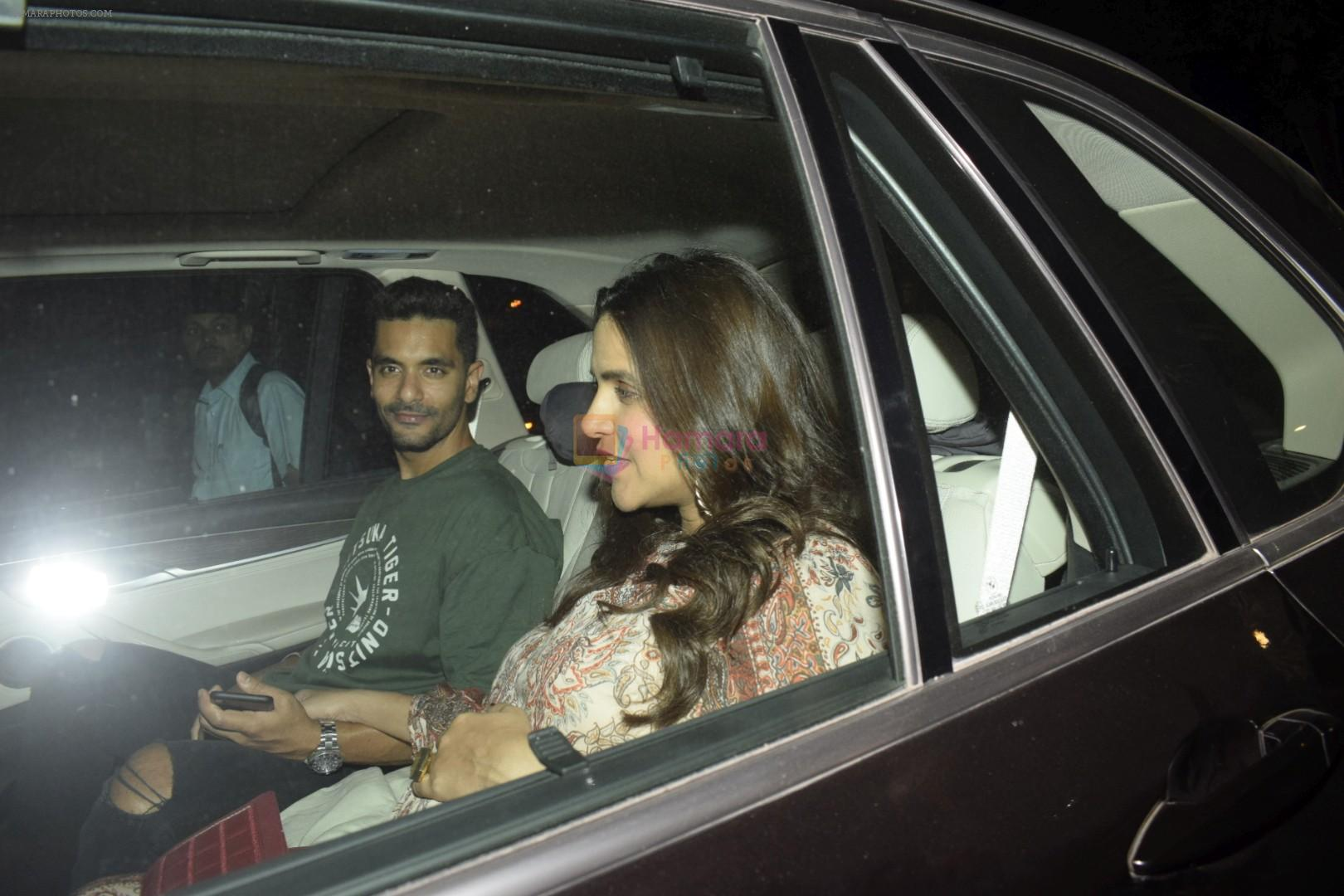 Neha Dhupia, Angad Bedi at Karan Johar's House Party in Bandra on 26th Oct 2018