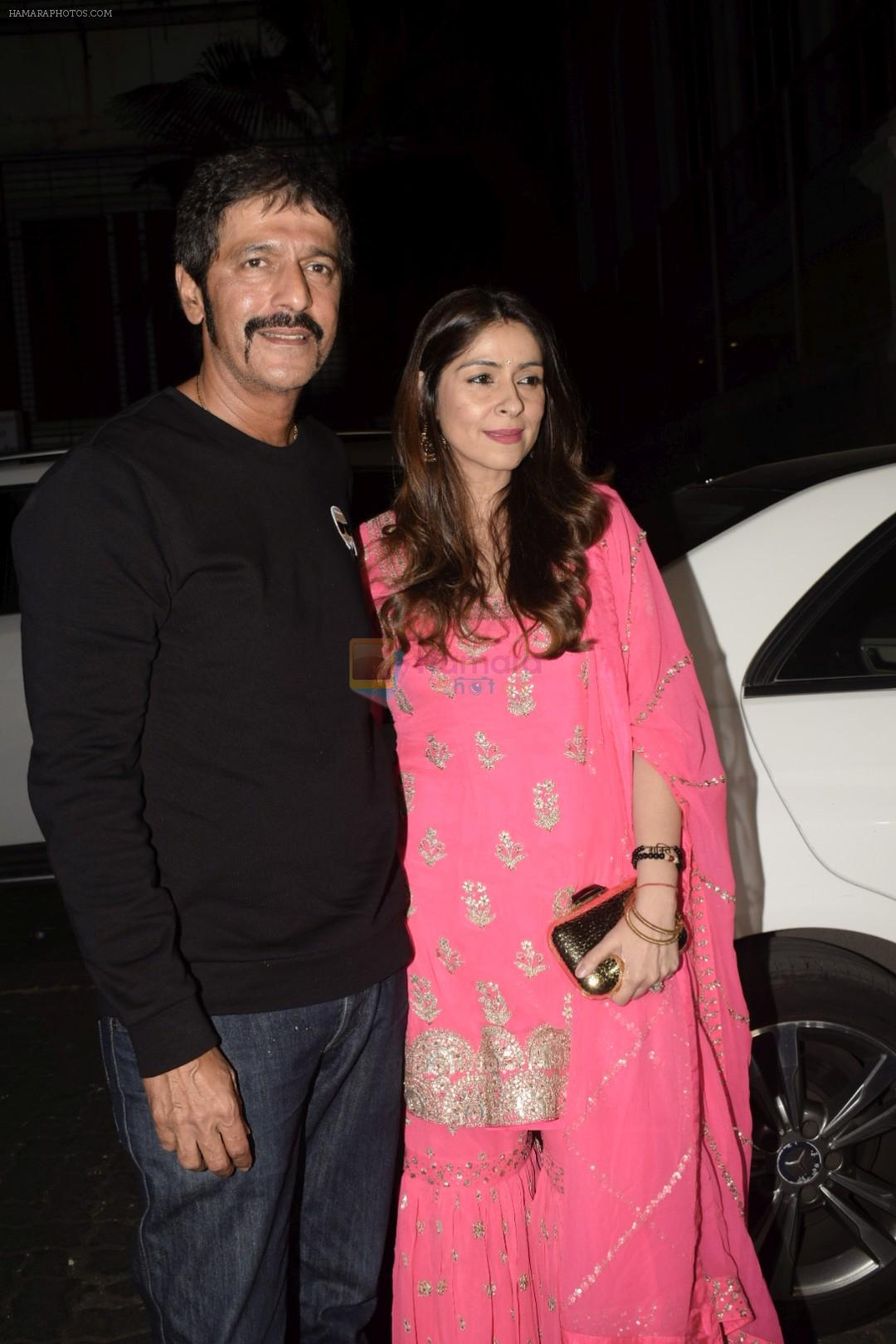 Chunky Pandey spotted at Anil Kapoor's house for Karvachauth celebration in Juhu on 27th Oct 2018