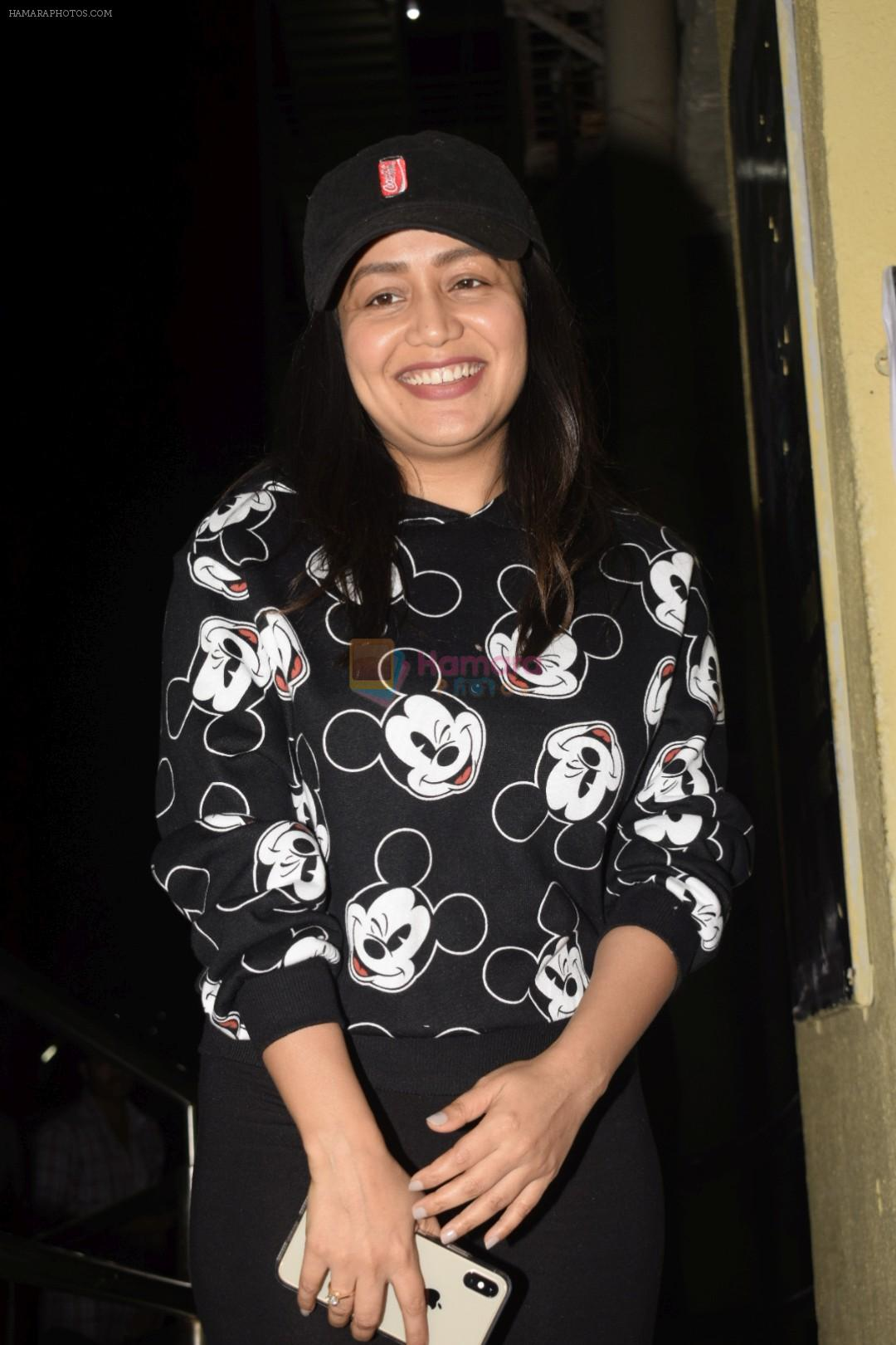 Neha Kakkar spotted at pvr juhu on 1st Nov 2018