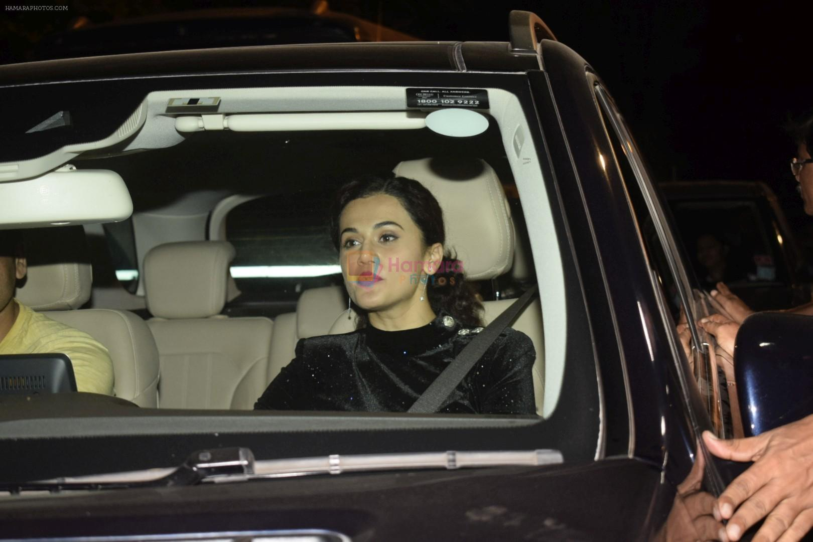 Taapsee Pannu at Shahrukh Khan's Diwali party in Mannat, bandra on 4th Nov 2018