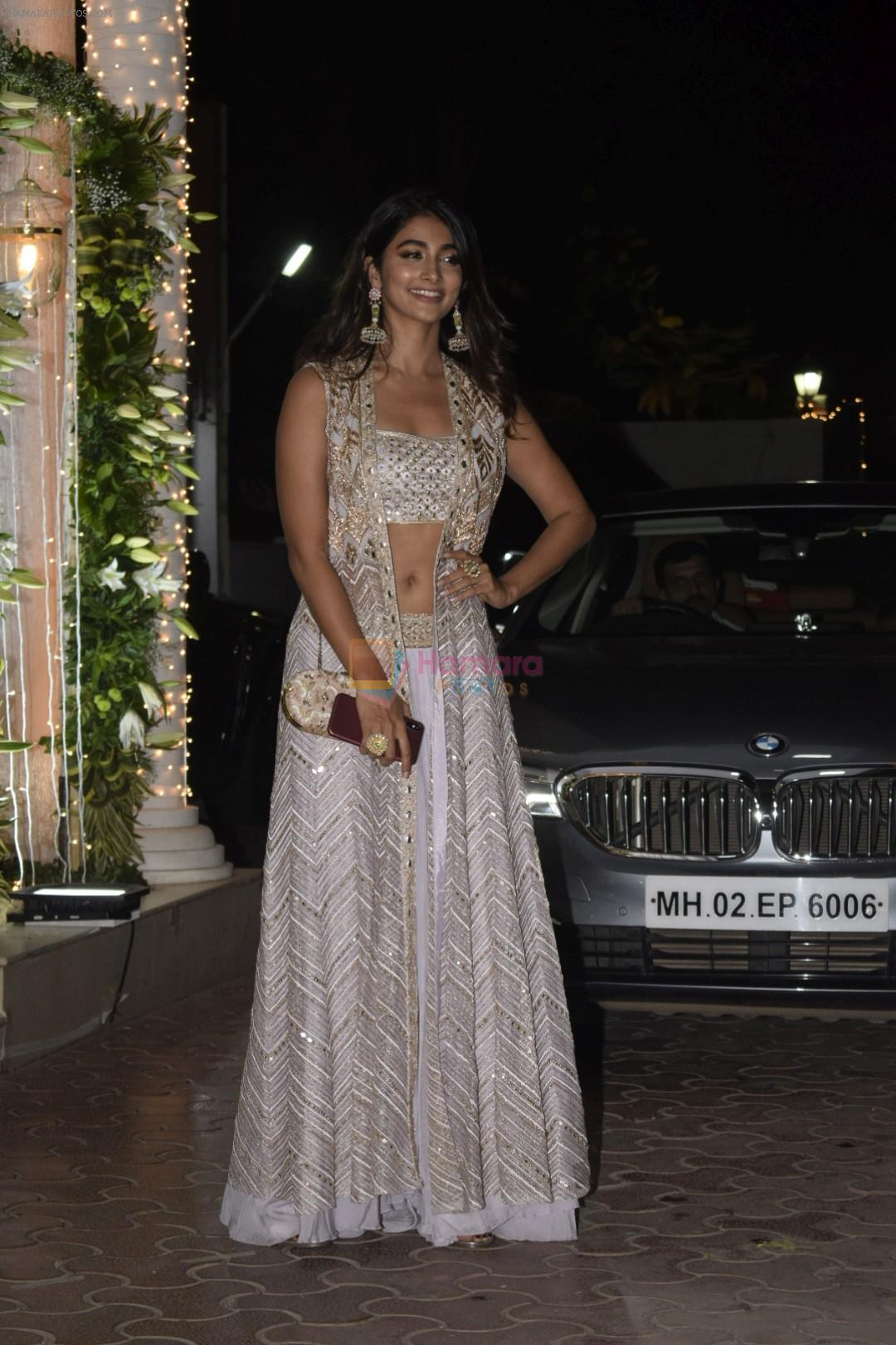 Pooja Hegde at Shilpa Shetty's Diwali party at juhu on 4th Nov 2018
