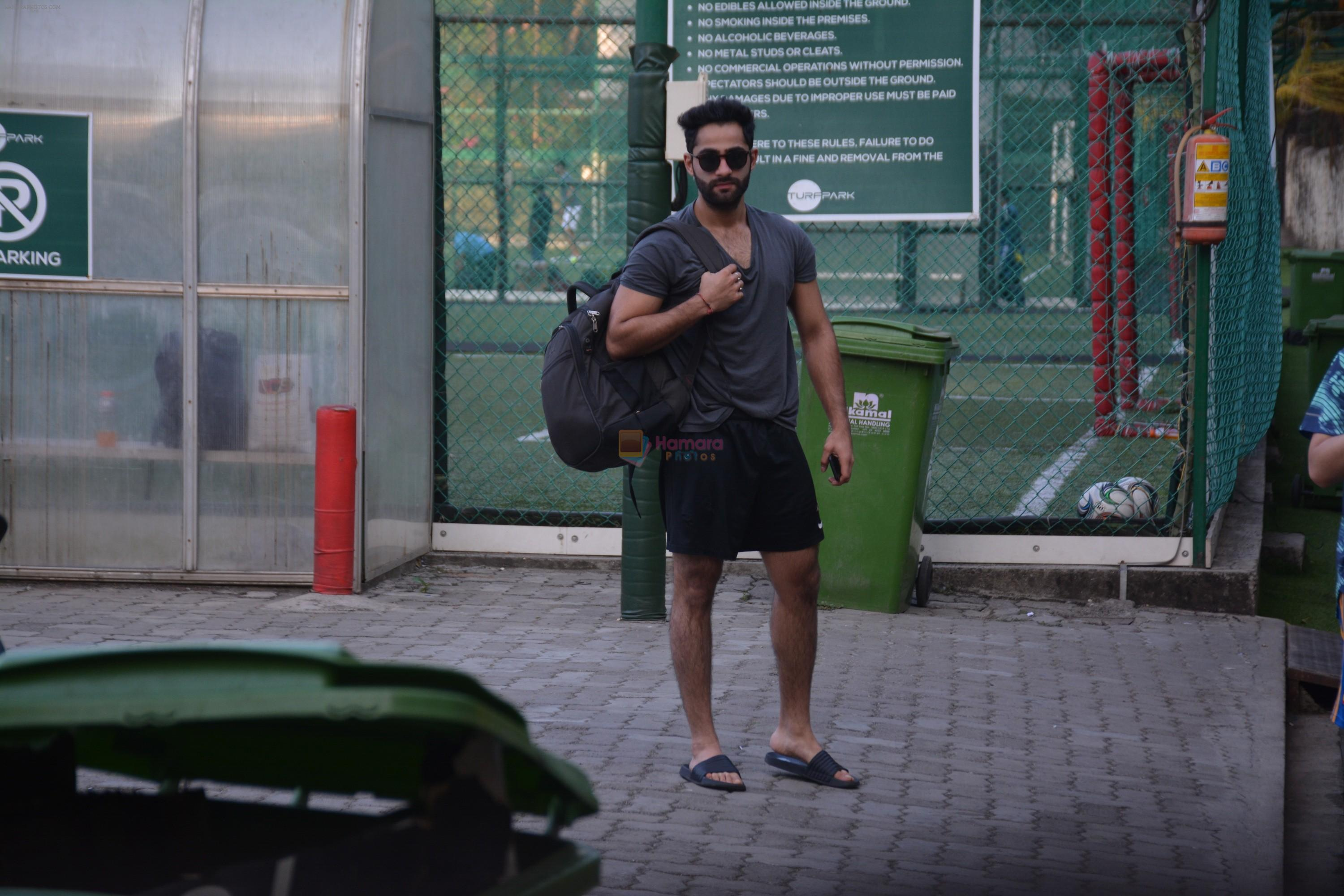 Aadar Jain spotted at football ground in bandra on 4th Nov 2018