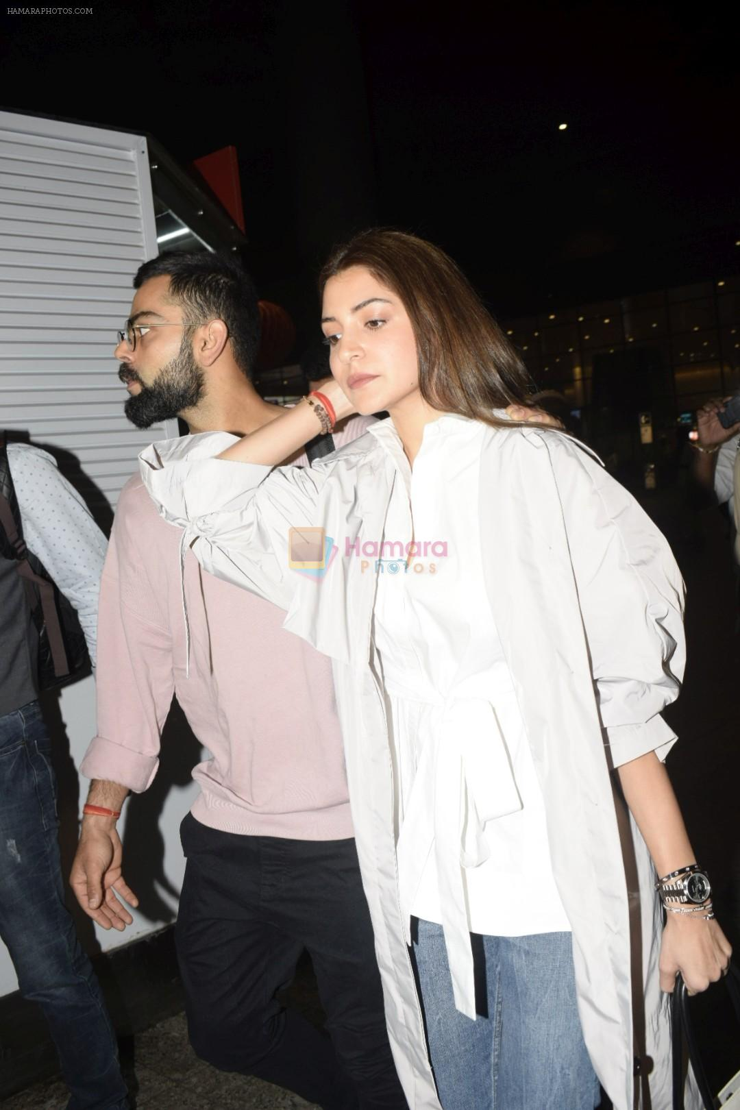 Virat Kohli, Anushka Sharma spotted at airport on 11th Nov 2018