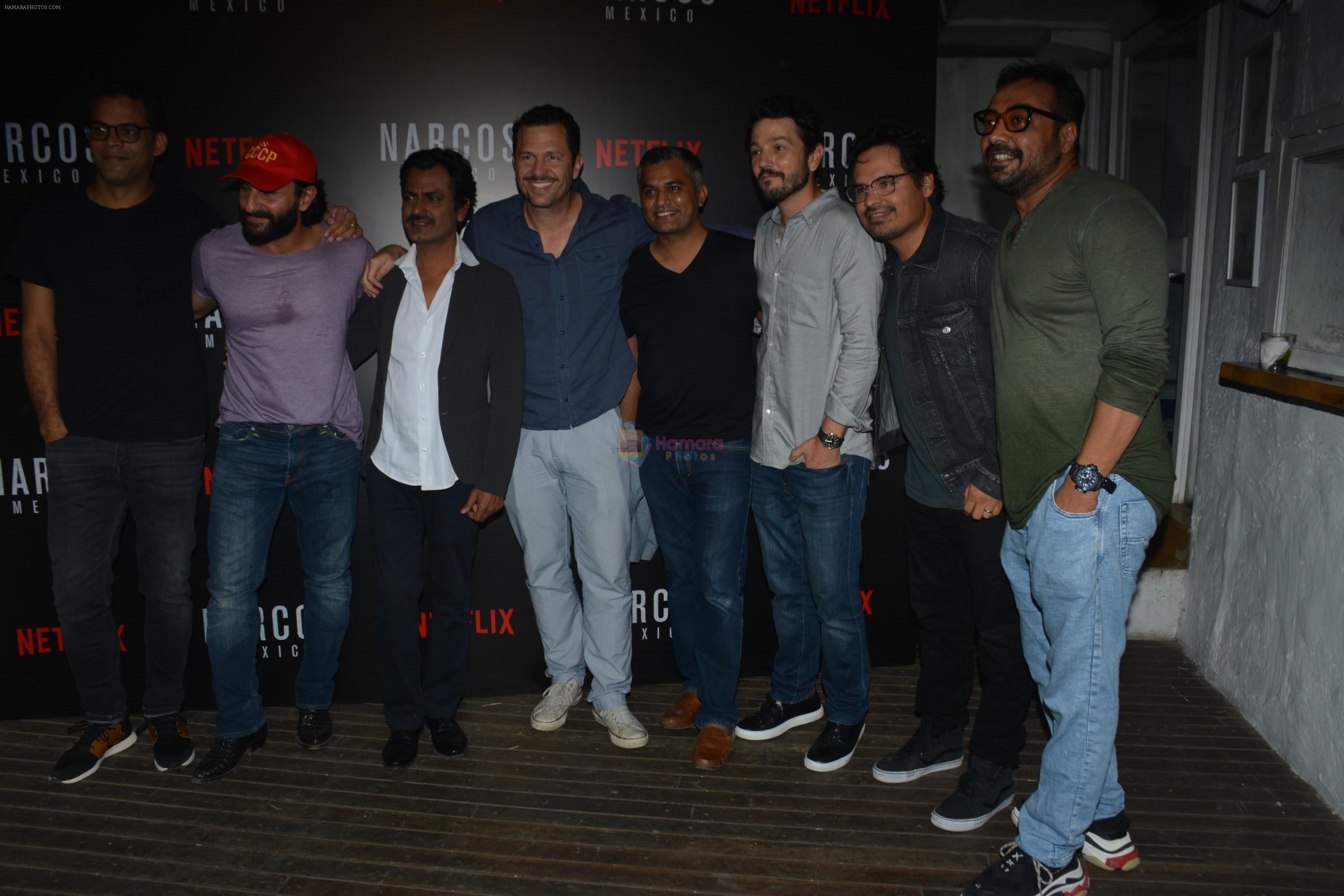 Saif Ali Khan, Anurag Kashyap At Meet and Greet With Team Of Webseries Narcos Mexico in Mumbai on 11th Nov 2018