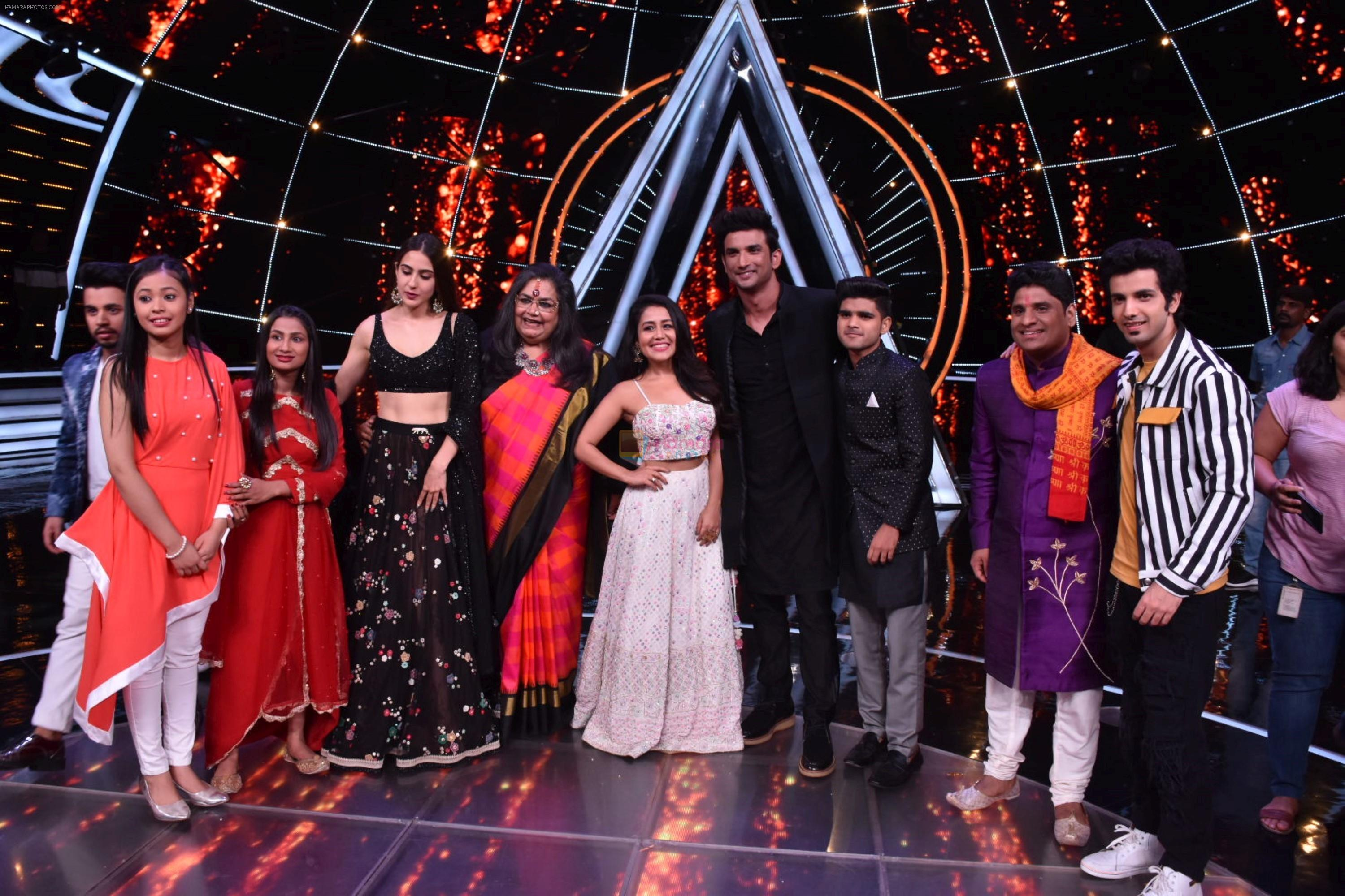 Sara ali khan, Sushant singh Rajput at Indian Idol 10 on 12th Nov 2018