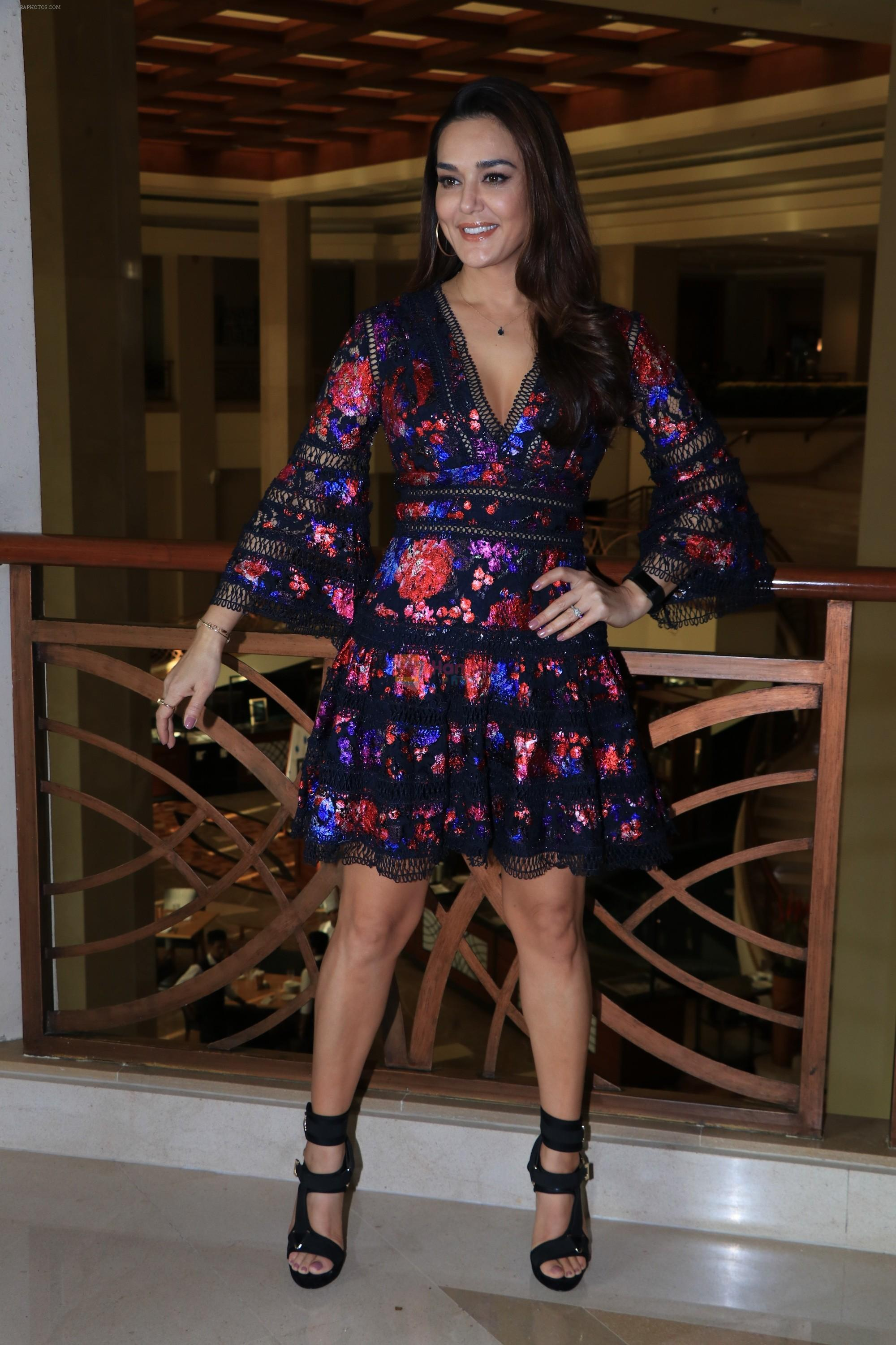 Preity Zinta during media interactions at jw marriott juhu on 12th Nov 2018