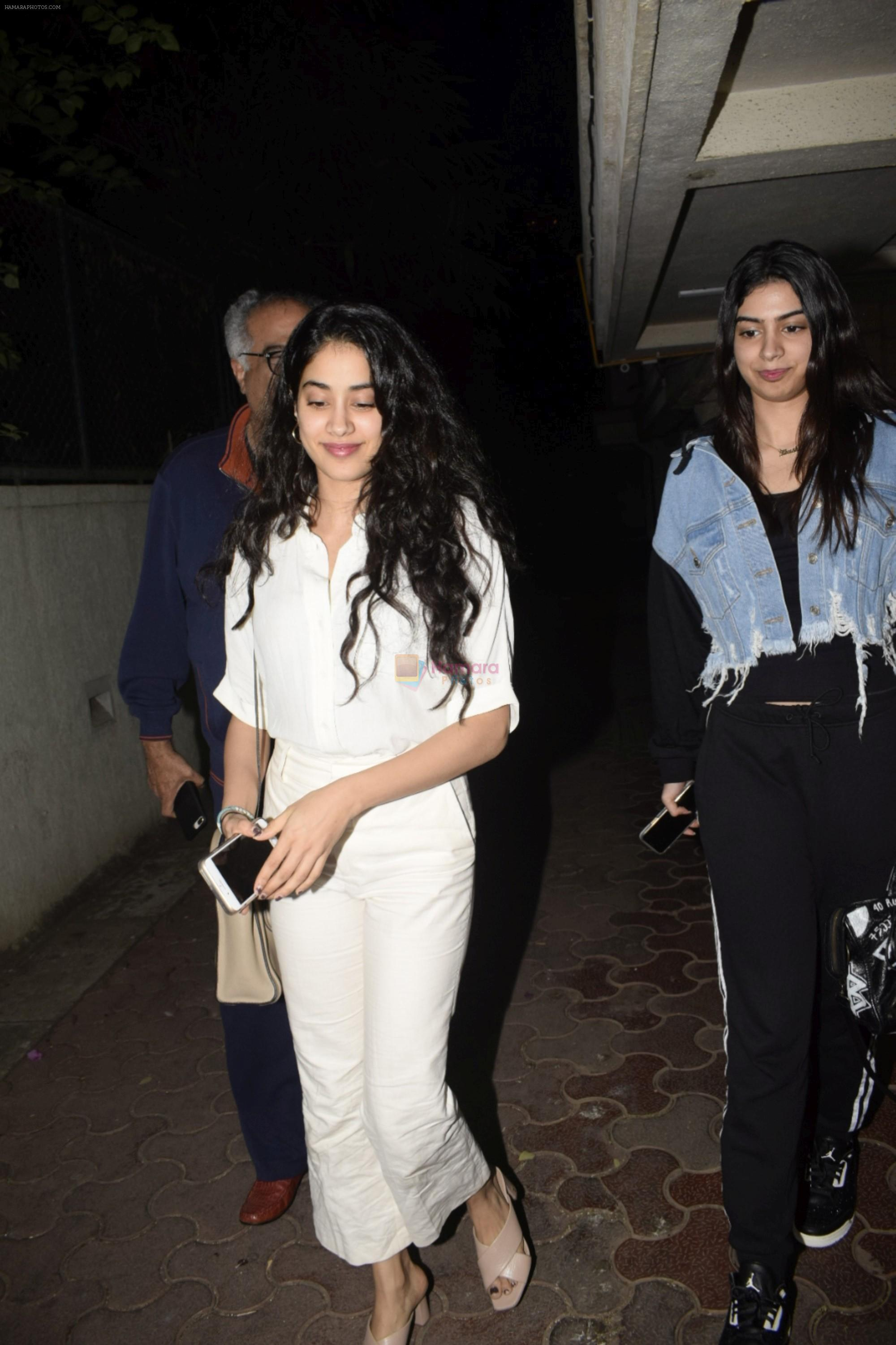 Janhvi Kapoor, Khushi Kapoor, Boney at Boney Kapoor Birthday Celebrations in Arjun Kapoor's House In Juhu on 11th Nov 2018
