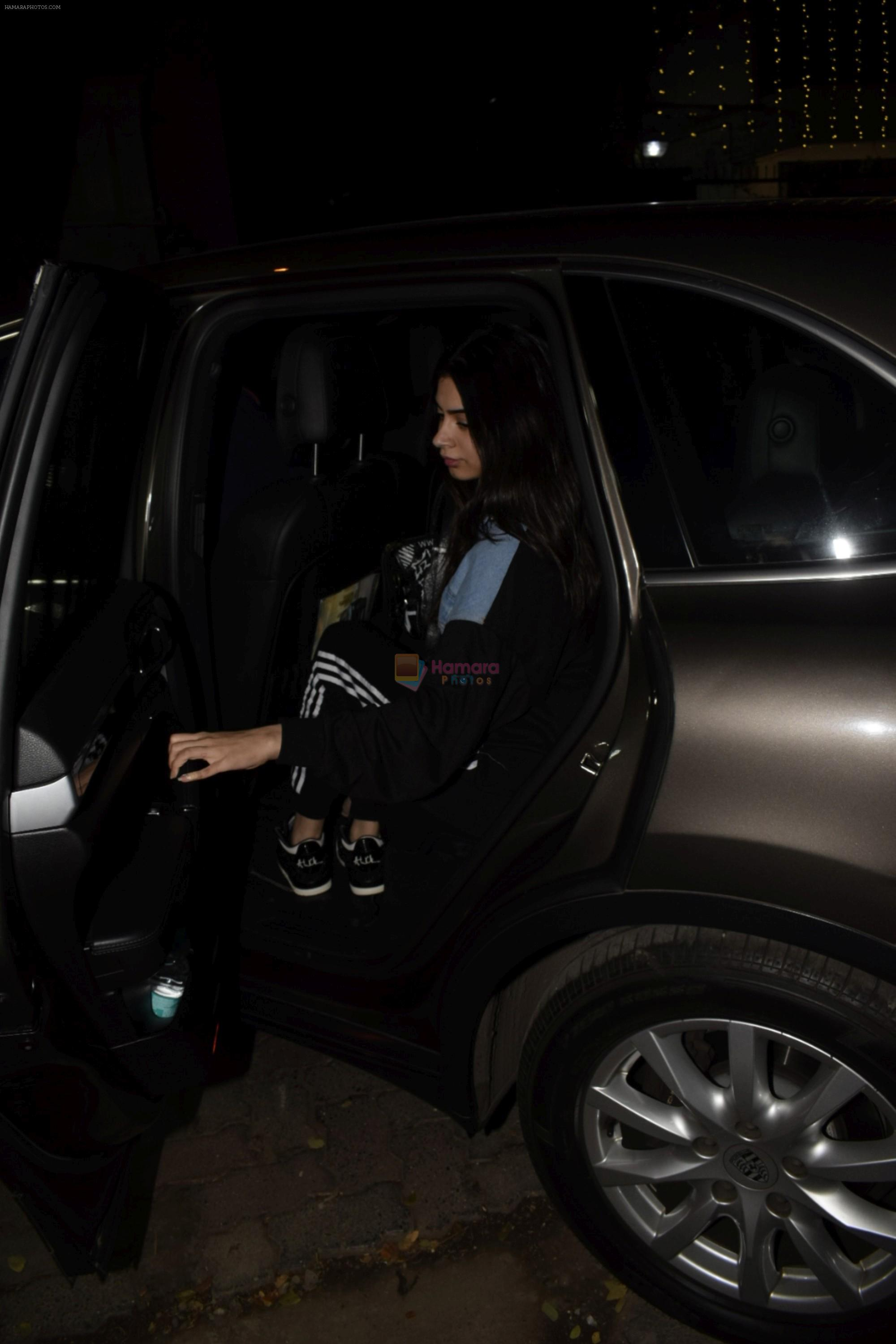 Khushi Kapoor at Boney Kapoor Birthday Celebrations in Arjun Kapoor's House In Juhu on 11th Nov 2018