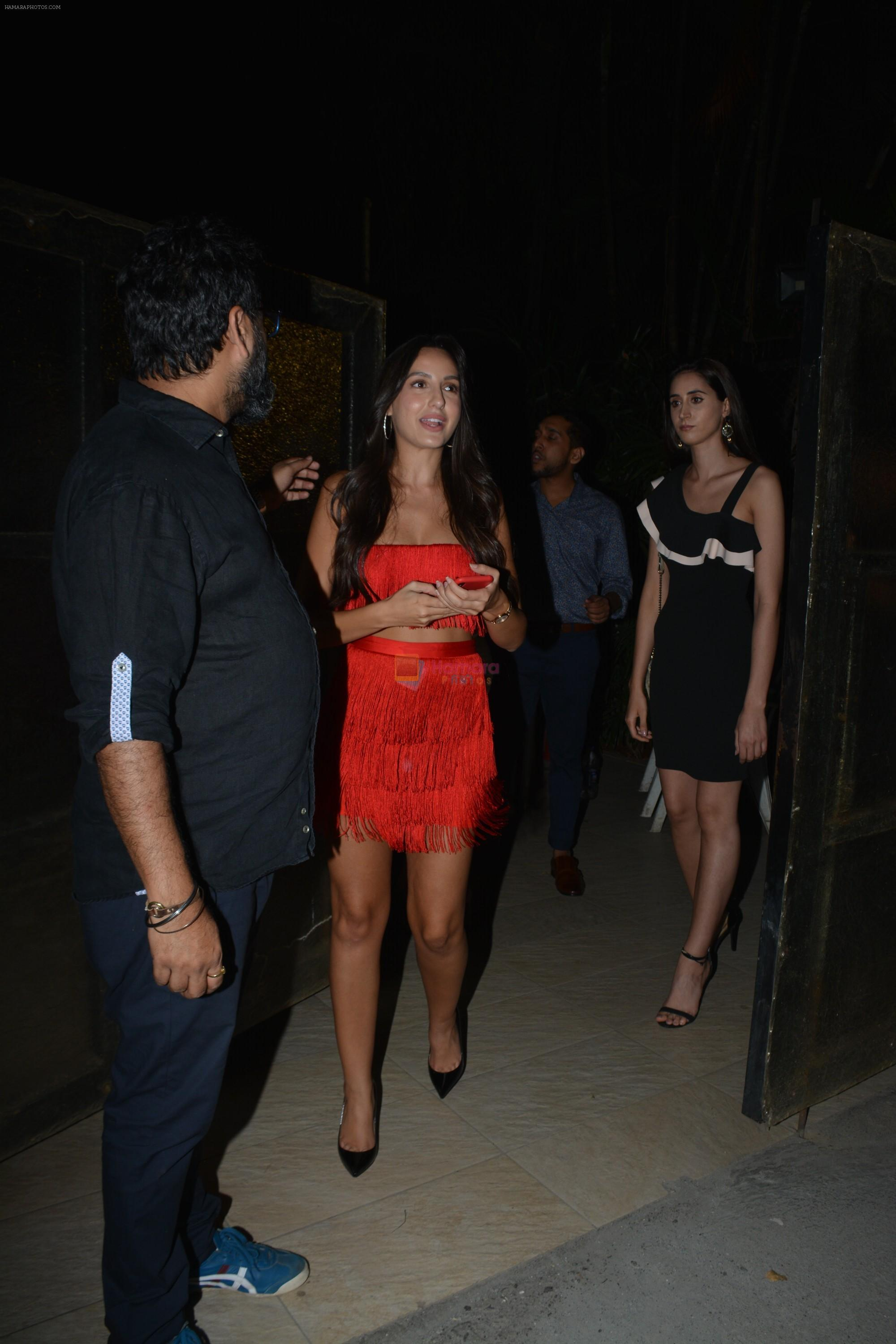 Nora Fatehi at Milap Zaveri's Birthday party on 14th Nov 2018
