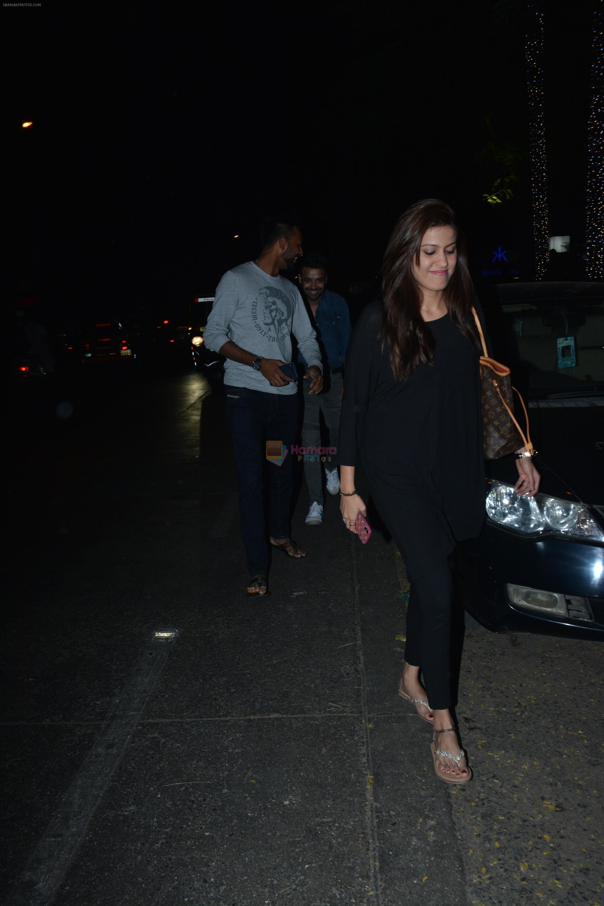 Krunal Pandya With Wife Spotted At Hakkasan In Bandra on 15th Nov 2018