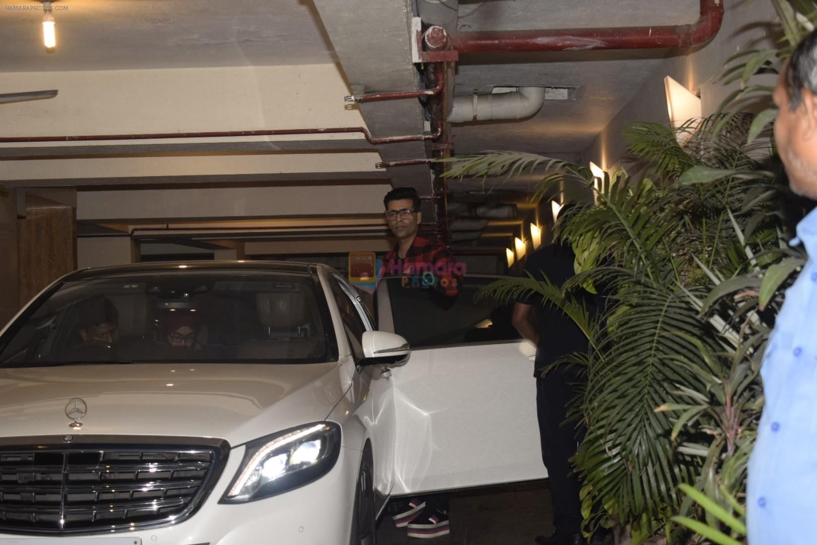 Karan Johar spotted at Kareena Kapoor's house party in bandra on 20th Nov 2018