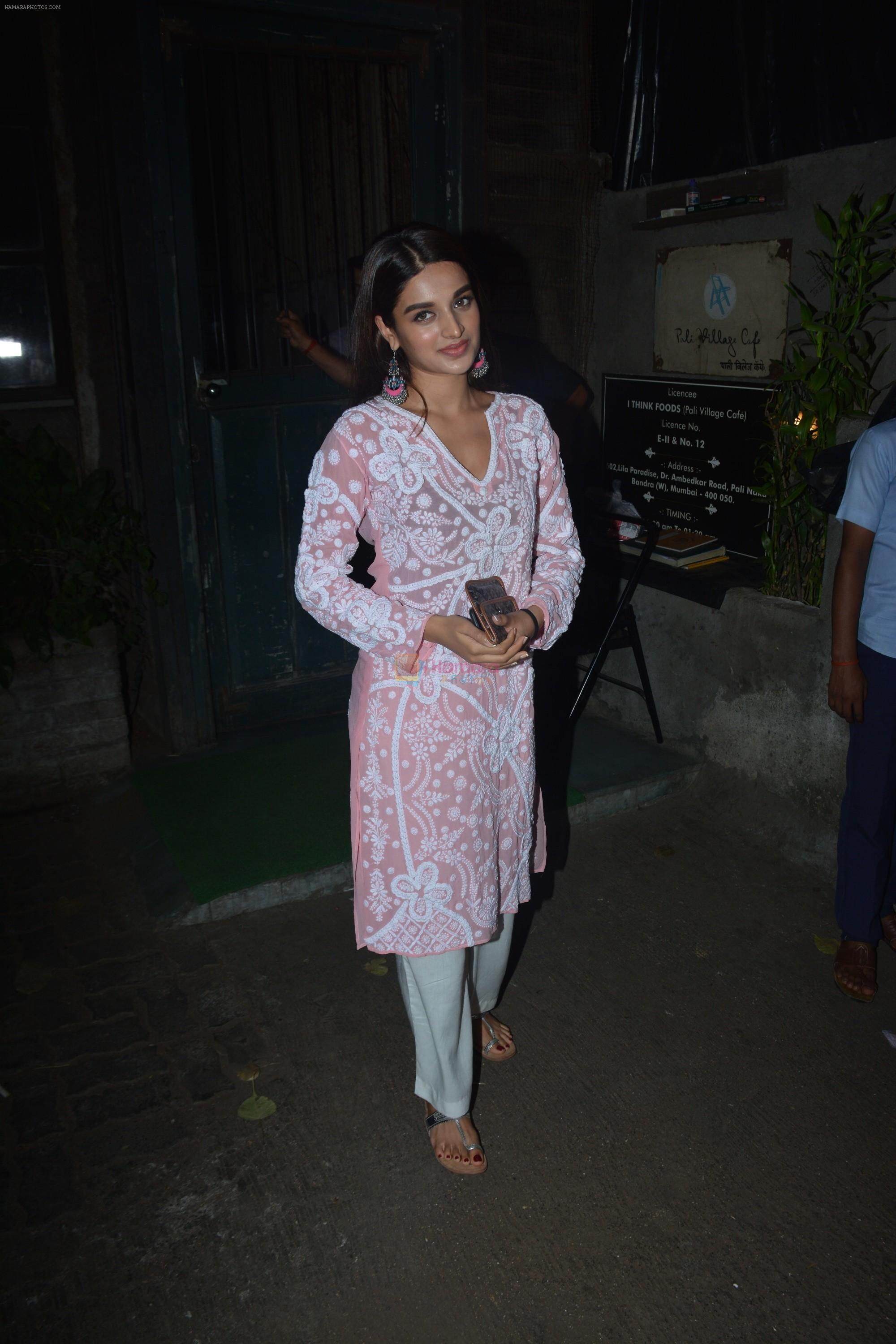 Nidhhi Agerwal spotted at Palli Village cafe in bandra on 21st Nov 2018